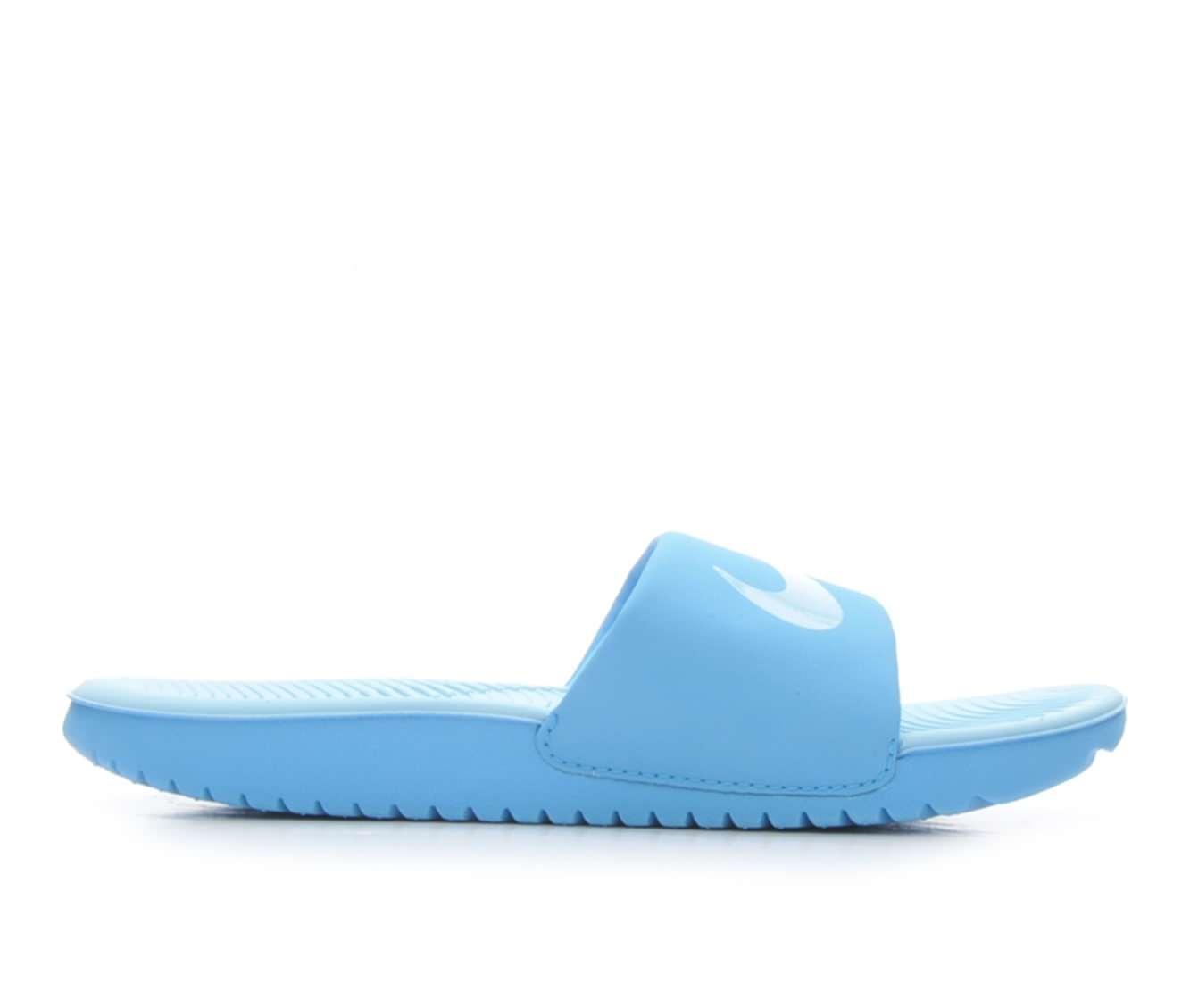 Girls' Nike Kawa Slide Sandals (Blue)