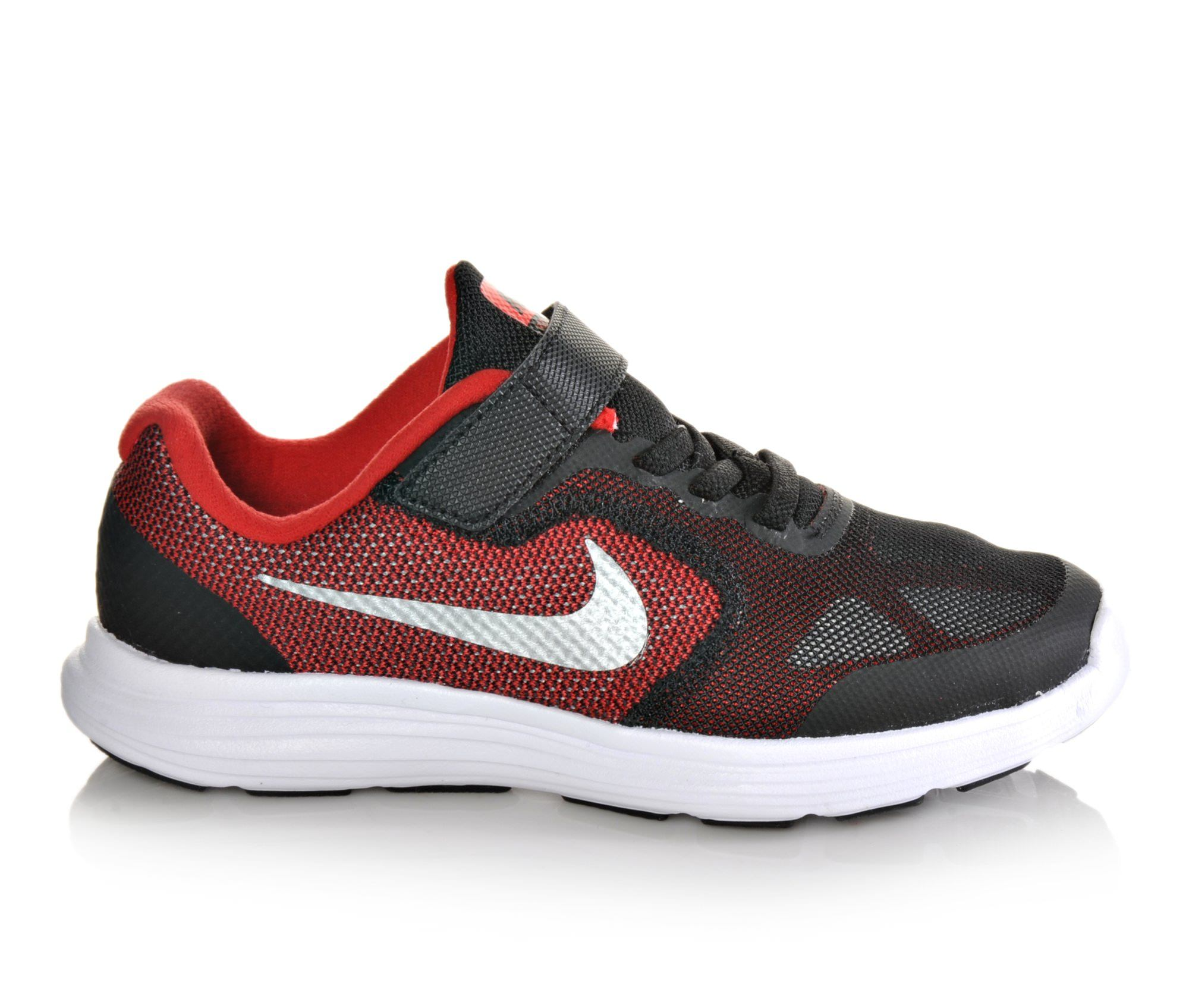 Boys' Nike Revolution 3 Athletic Shoes (Red)
