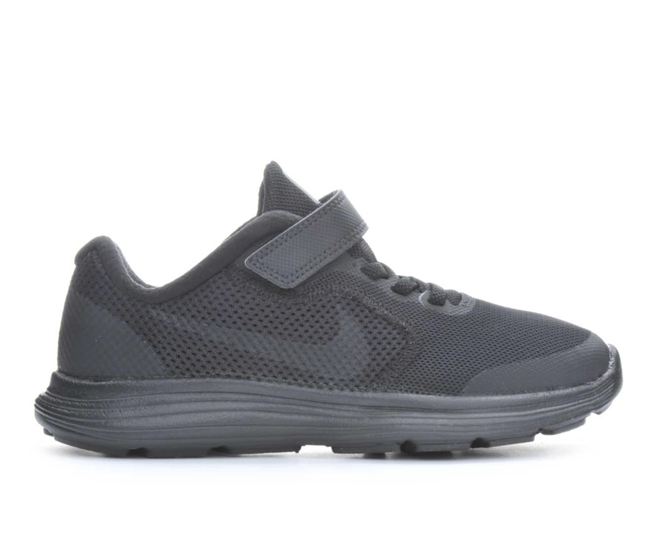 Boys' Nike Revolution 3 Athletic Shoes (Black)