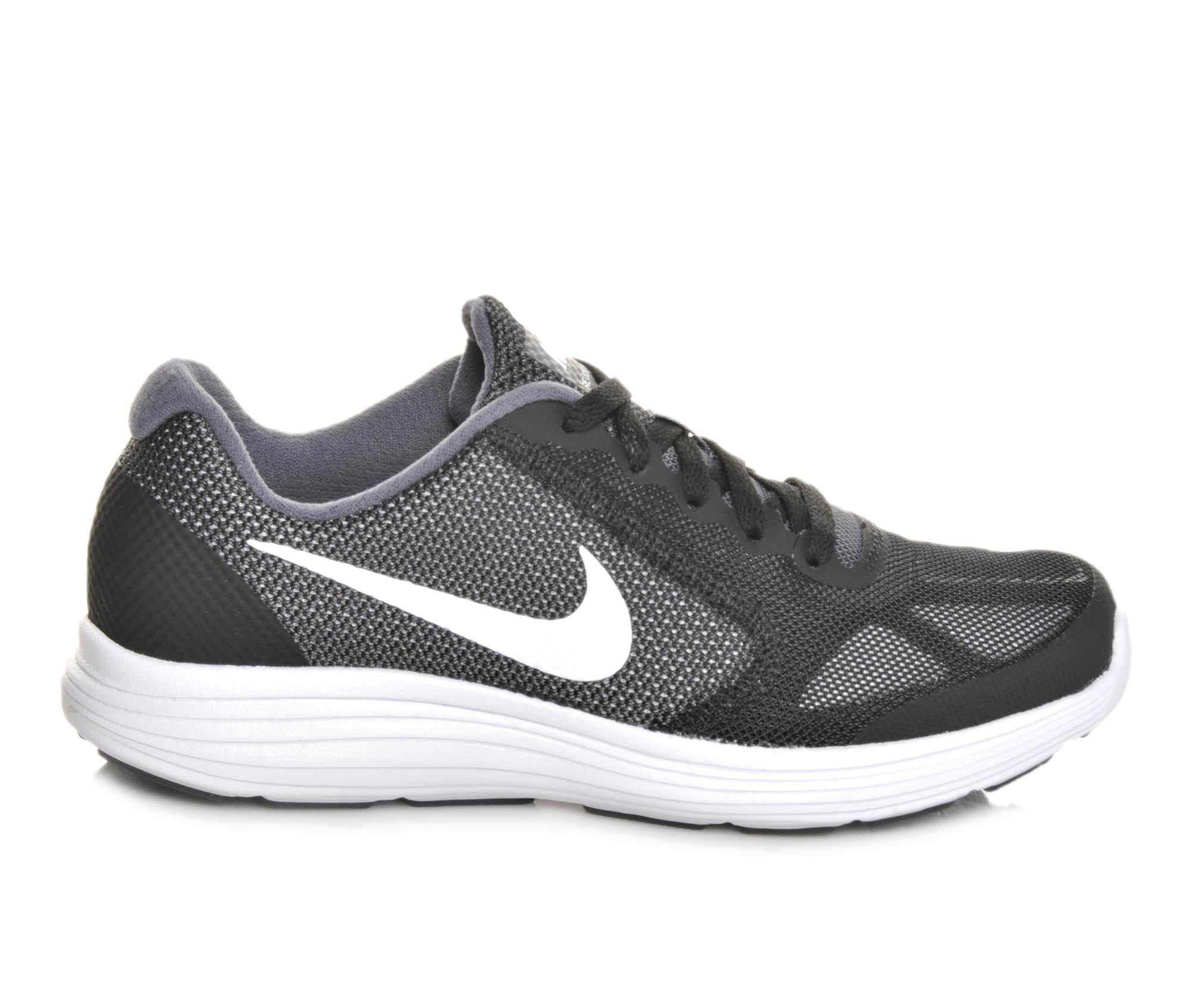 Boys' Nike Revolution 3 Athletic Shoes (Grey)