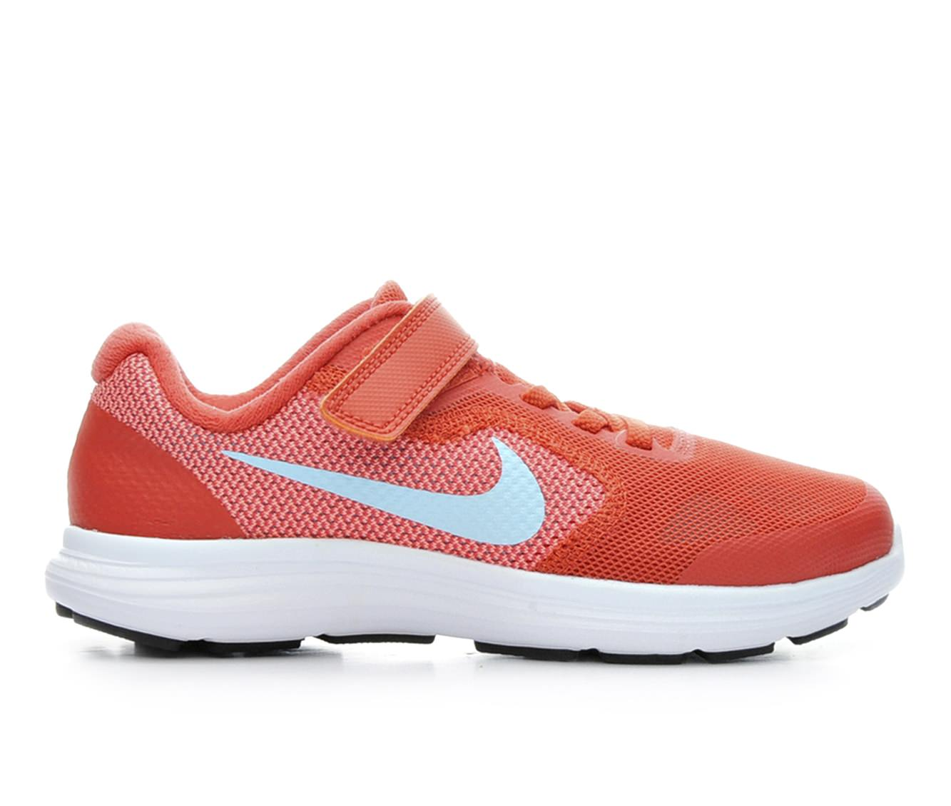 Girls' Nike Revolution 3 Athletic Shoes (Orange - Size 11.5 - Little Kid) 1610517