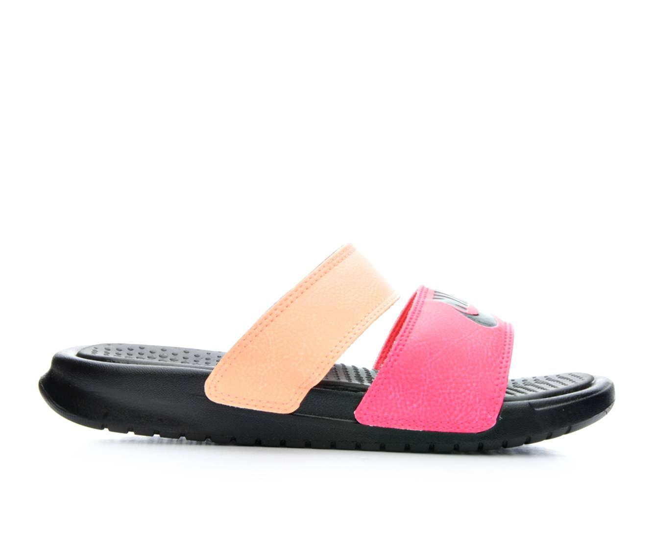 Women's Nike Benassi Duo Sport Slides (Pink - Size 7) 1634390