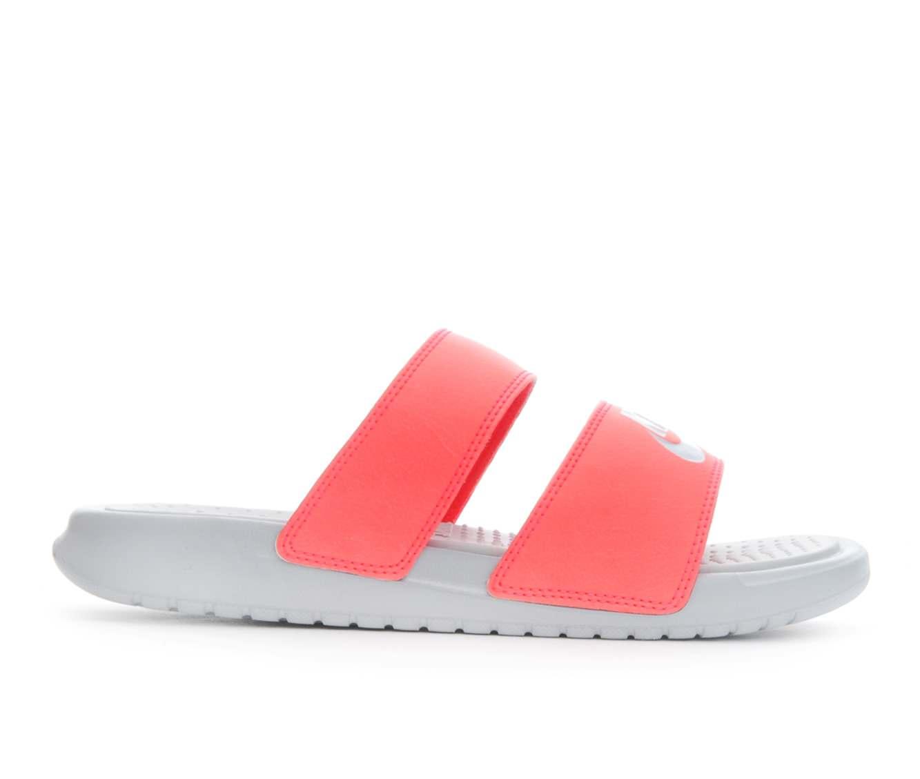 Women's Nike Benassi Duo Sport Slides (Red)