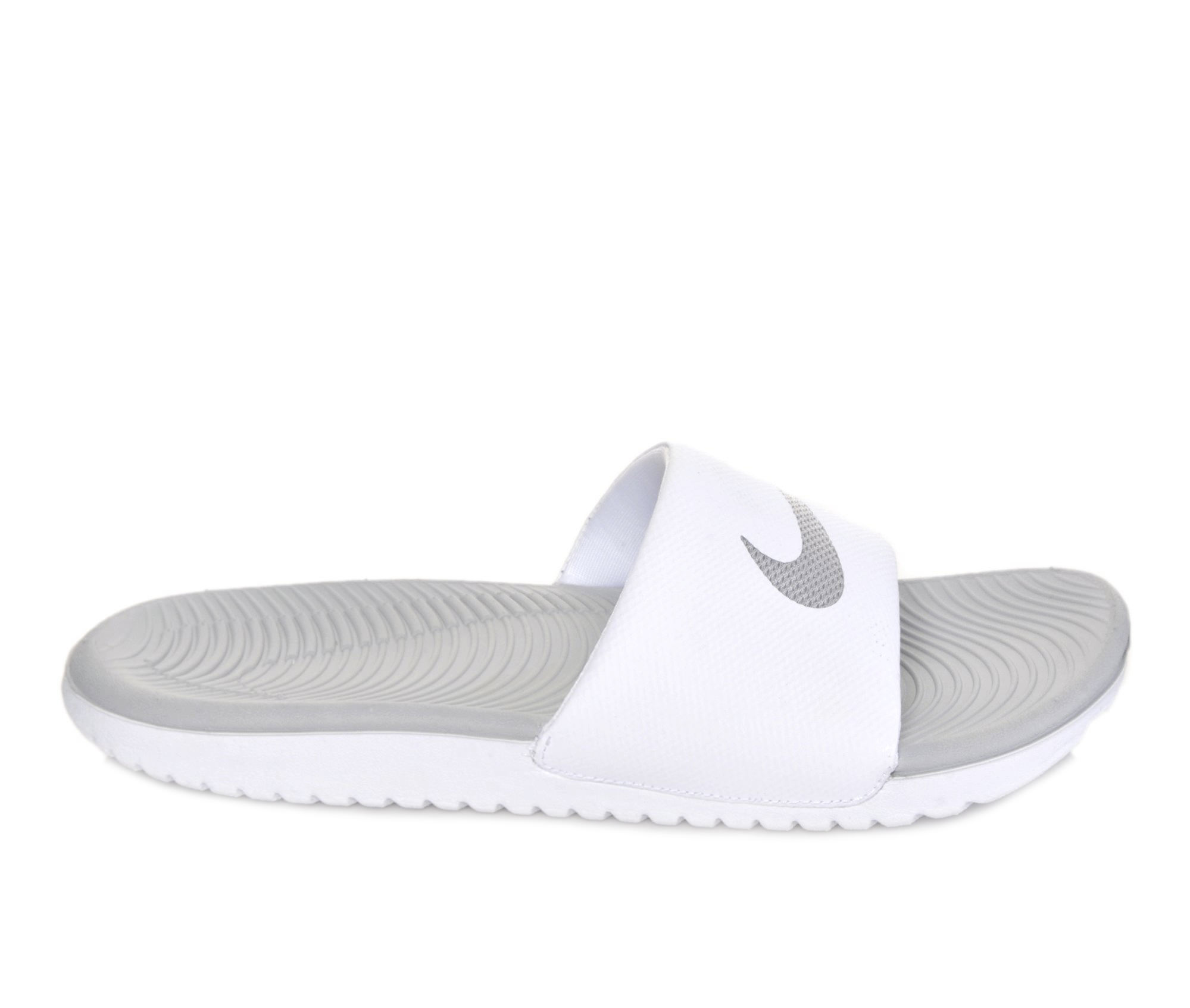 Women's Nike Kawa Slide Sandals (White)