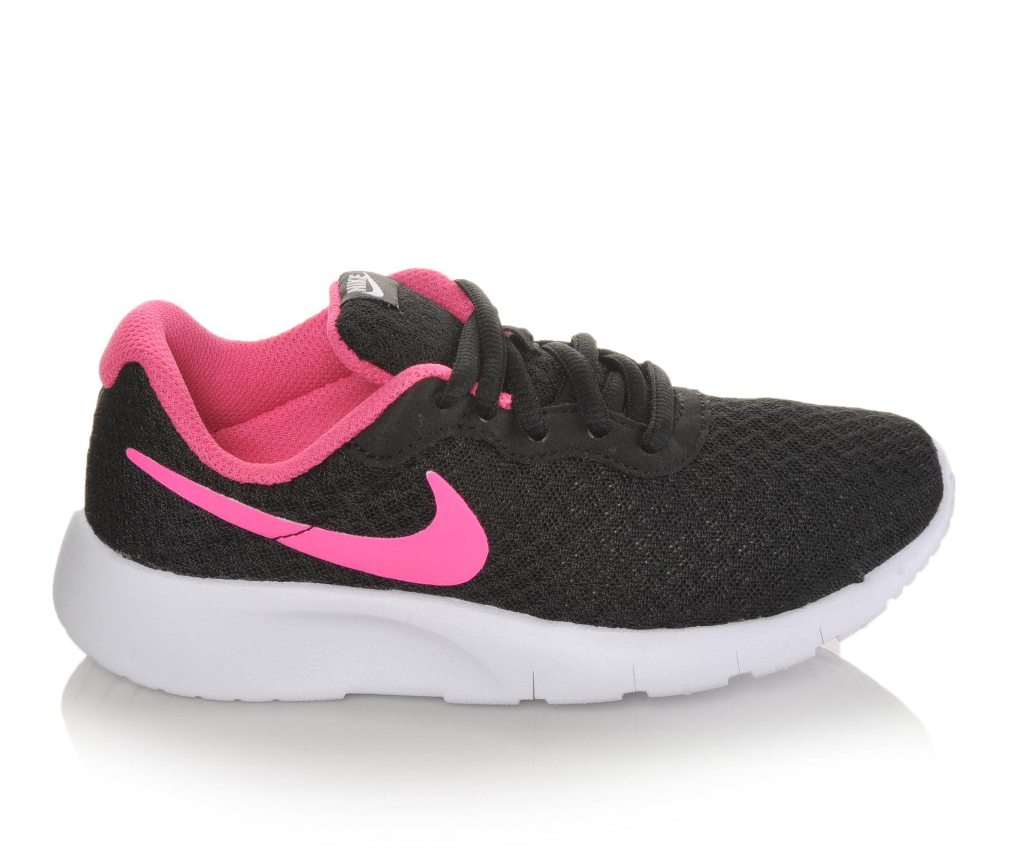 Girls' Nike Tanjun Running Shoes (Black - Size 11.5 - Little Kid) 1536286