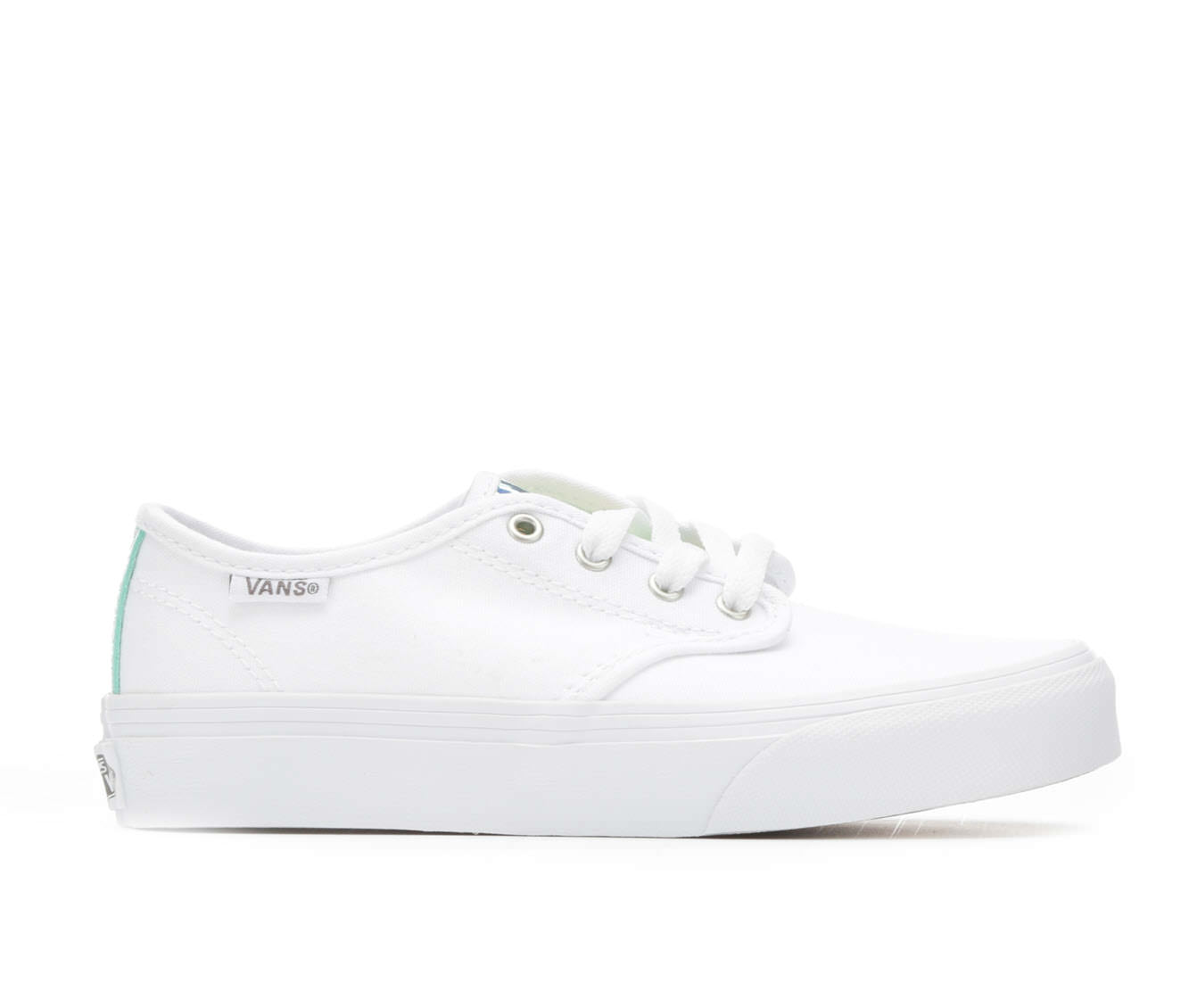 Girls' Vans Camden Stripe Skate Shoes (White)