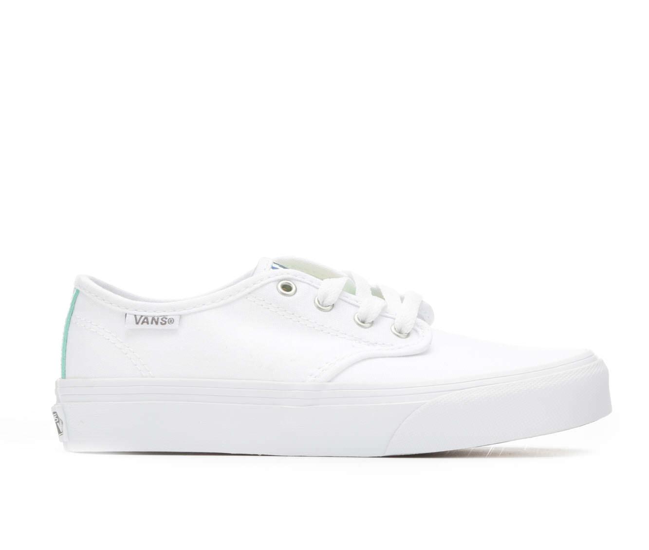 Girls' Vans Camden Stripe Skate Shoes (White)