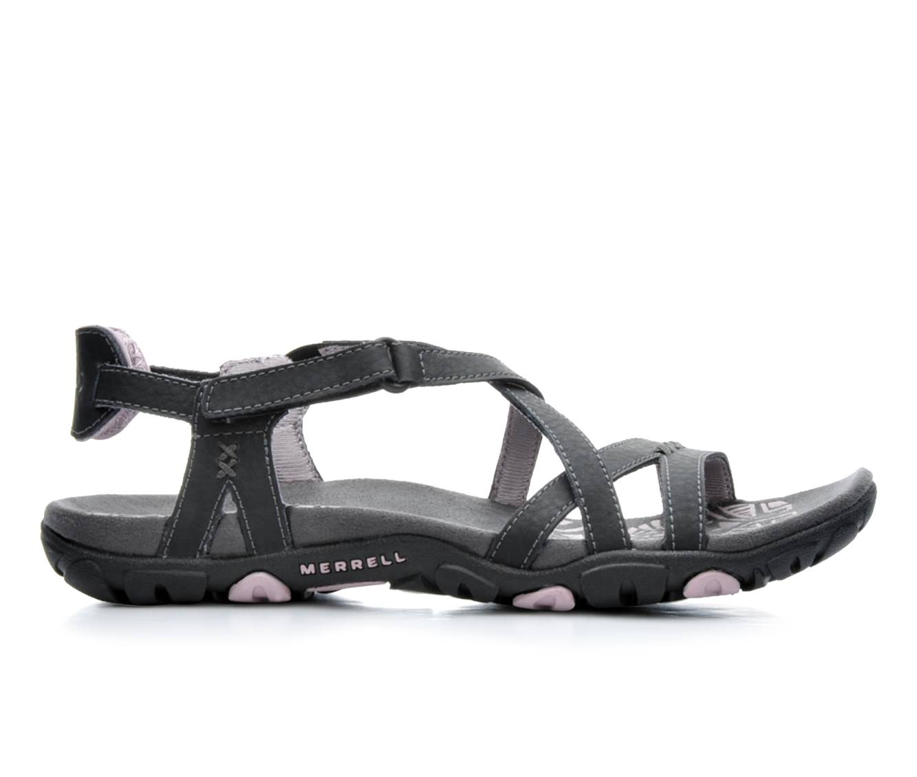 Women's Merrell Sandspur Rose Leather Sandals (Black)