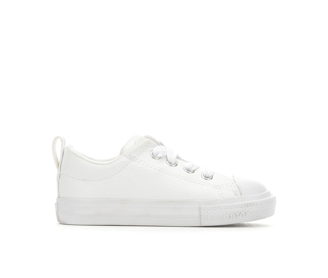 Girls' Converse Infant Chuck Taylor Street Slip Leather Sneakers (White)