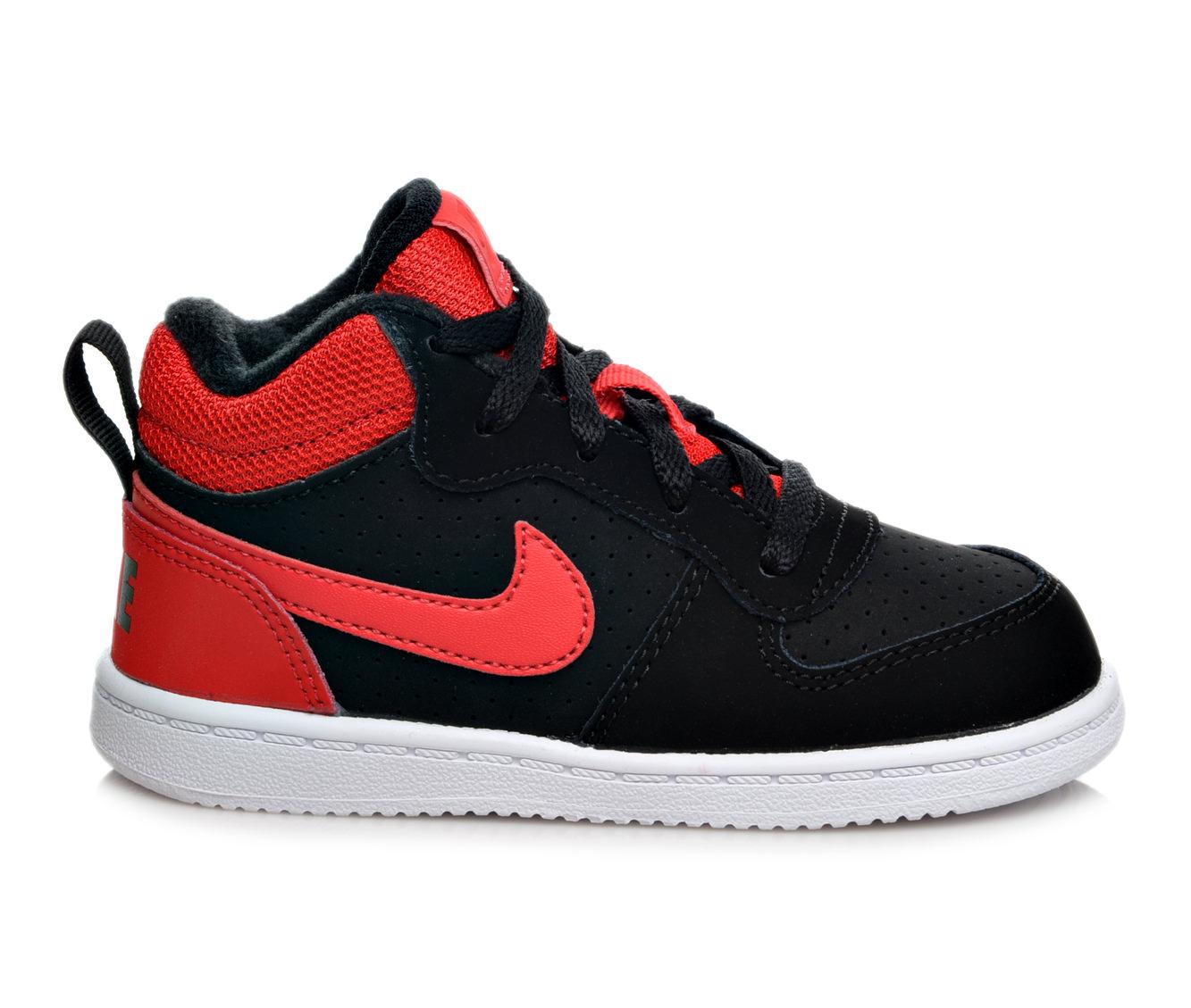 Boys' Nike Infant Court Borough Mid Sneakers (Black)
