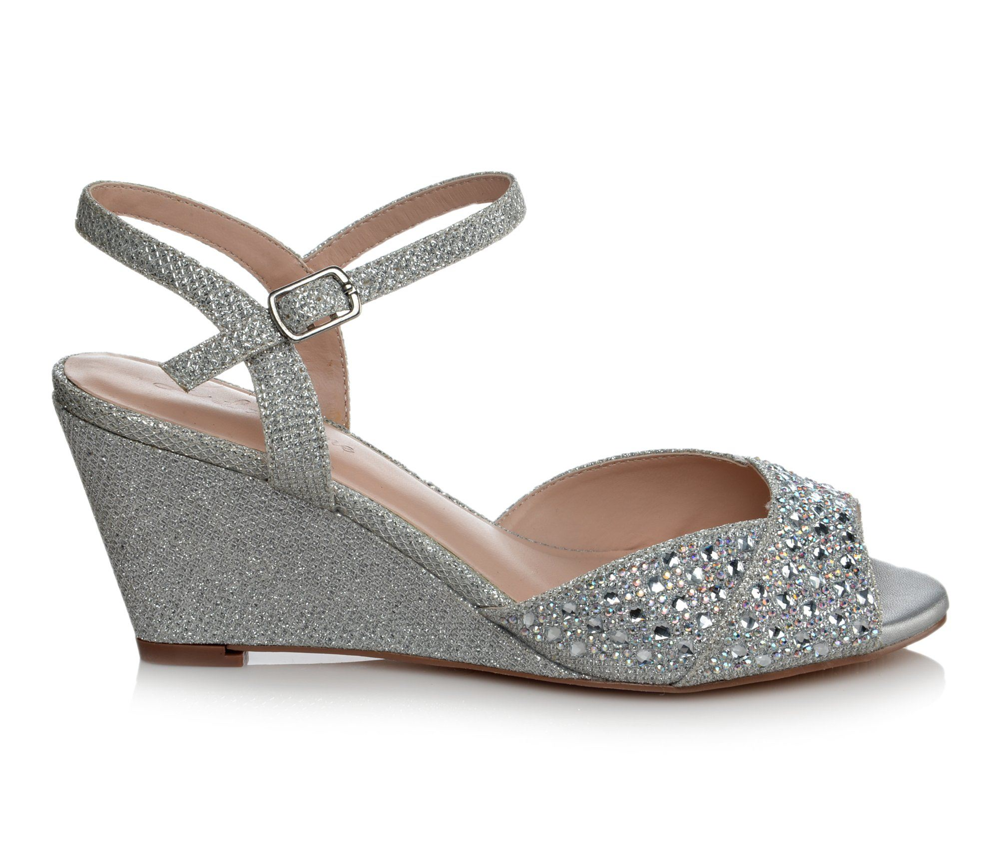 Women's LLorraine Helene Wedge Sandals (Silver)