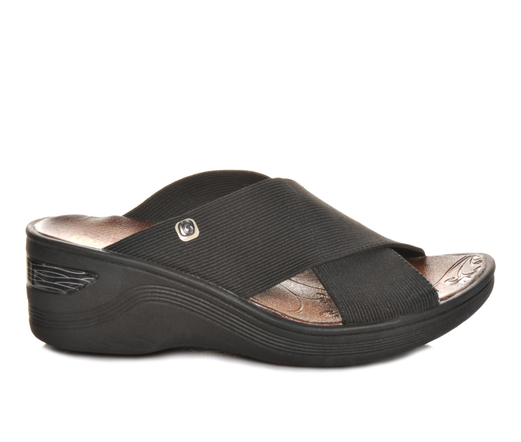 Women's BZEES Desire Wedge Sandals (Black)