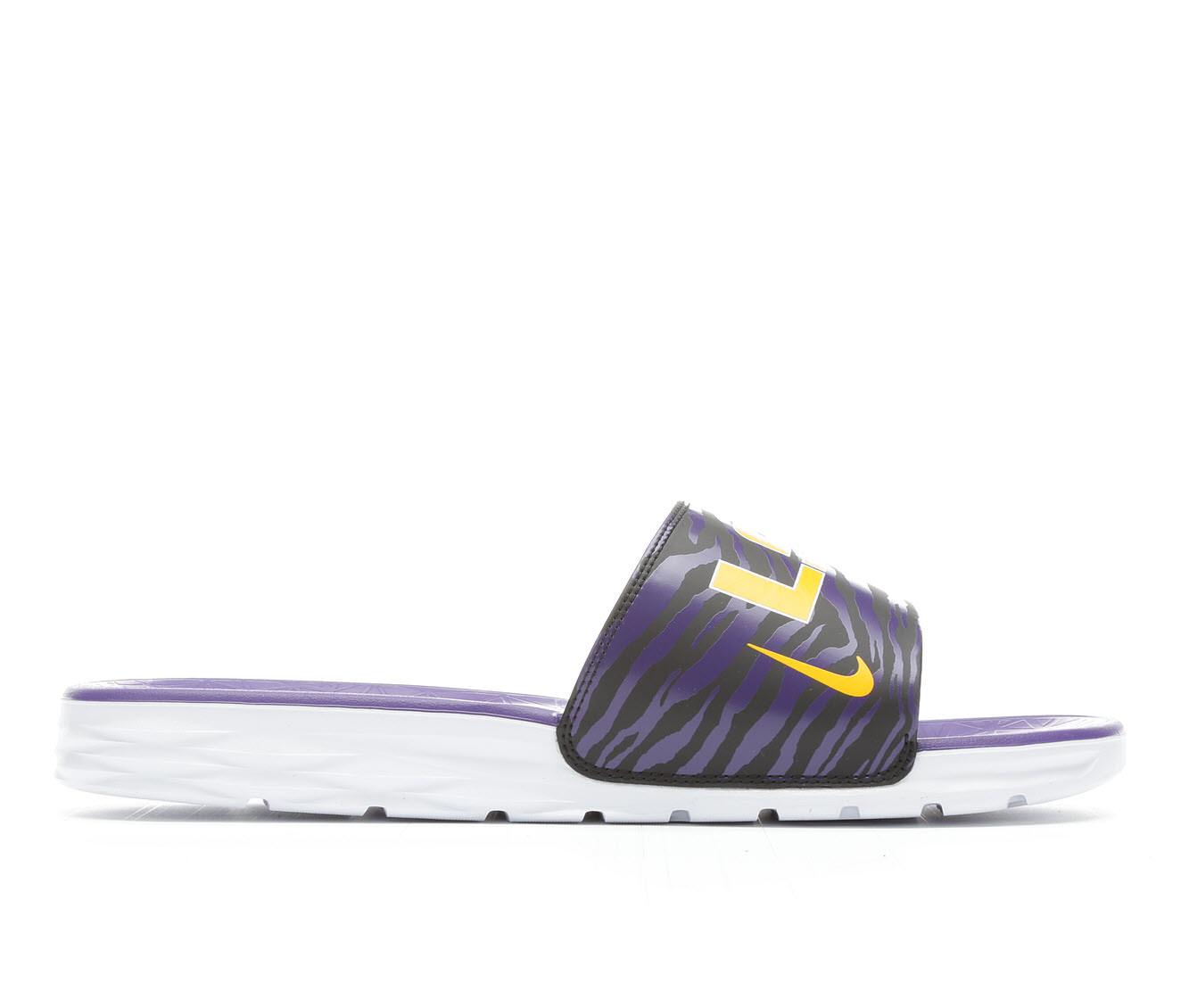 Men's Nike Benassi Solarsoft College Sandals (Purple)