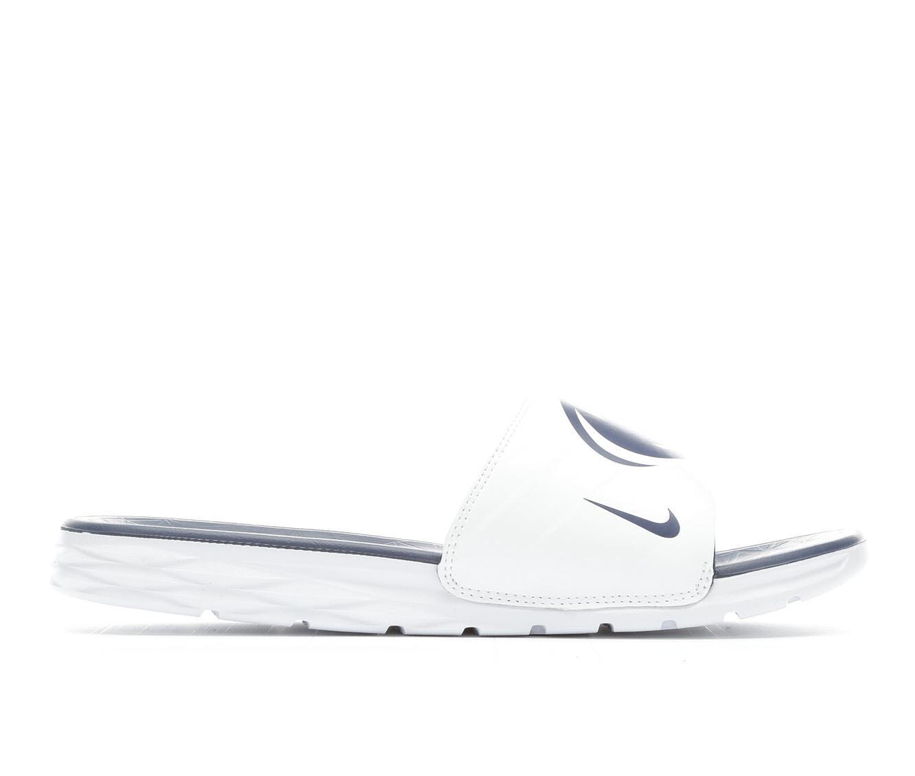 Men's Nike Benassi Solarsoft College Sandals (White)