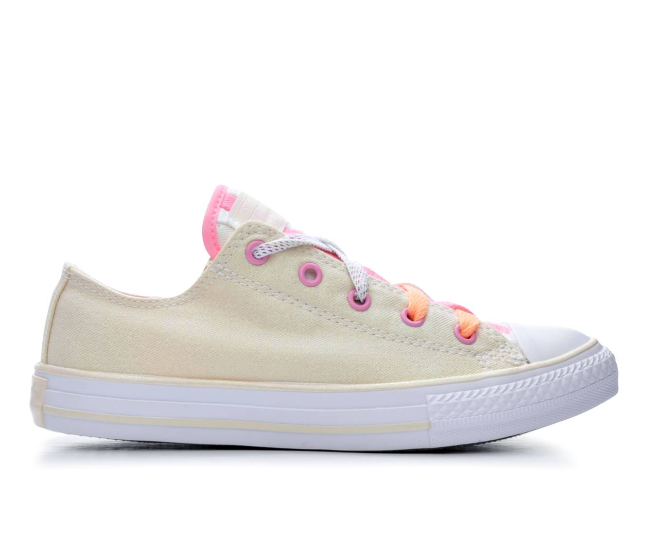 Girls' Converse Chuck Taylor All Star Loopholes Ox Sneakers (Beige)
