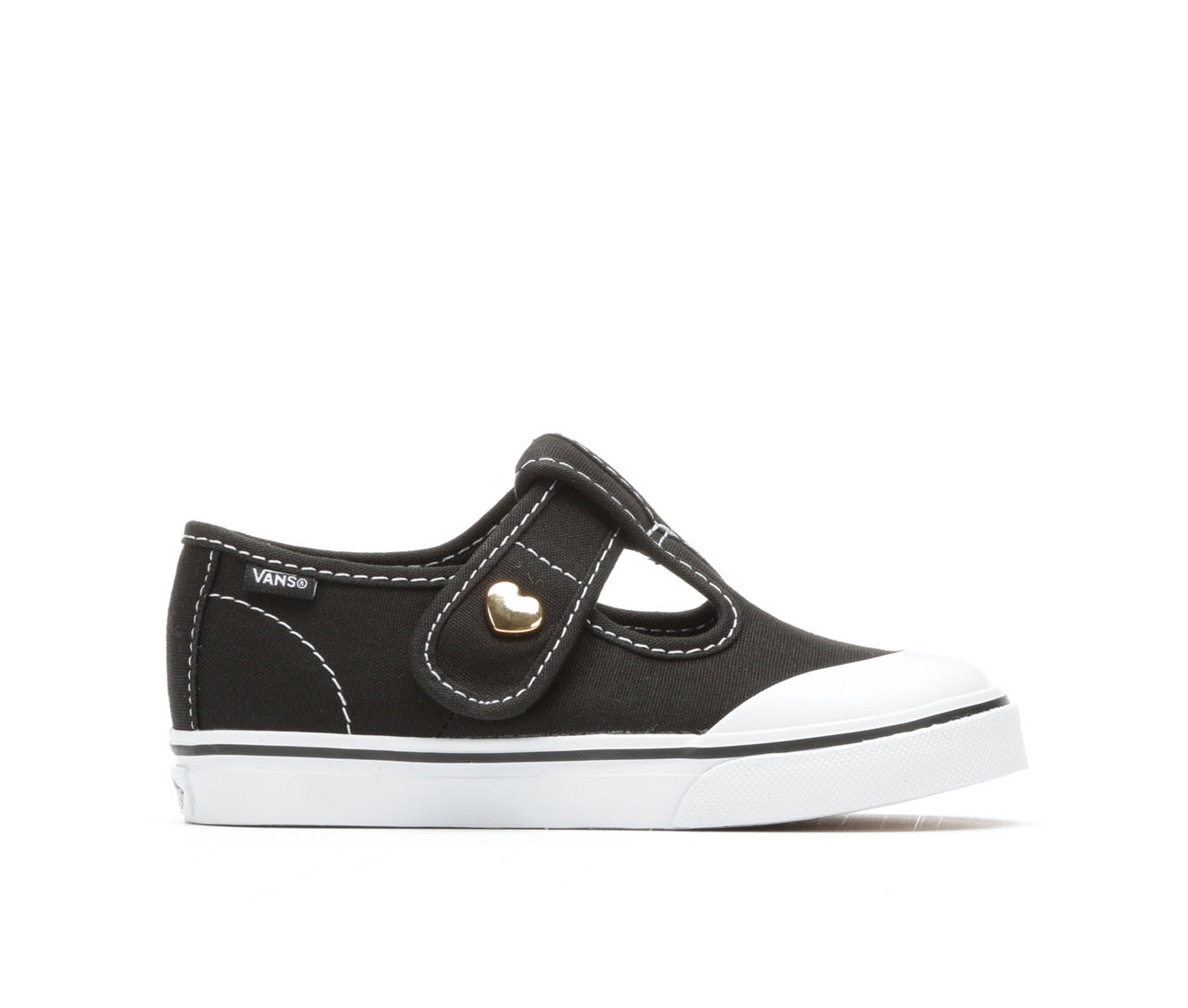 Girls' Vans Infant Leena Velcro Sneakers (Black)