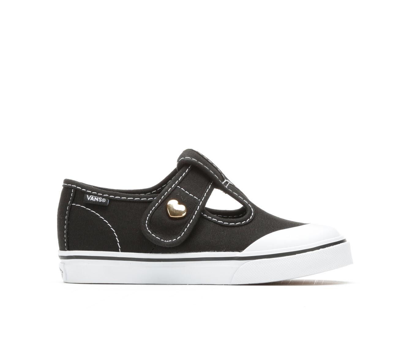 Girls' Vans Infant Leena Velcro Sneakers (Black)