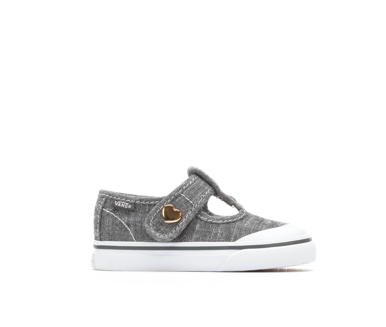 Girls' Vans Infant Leena Velcro Sneakers (Grey)