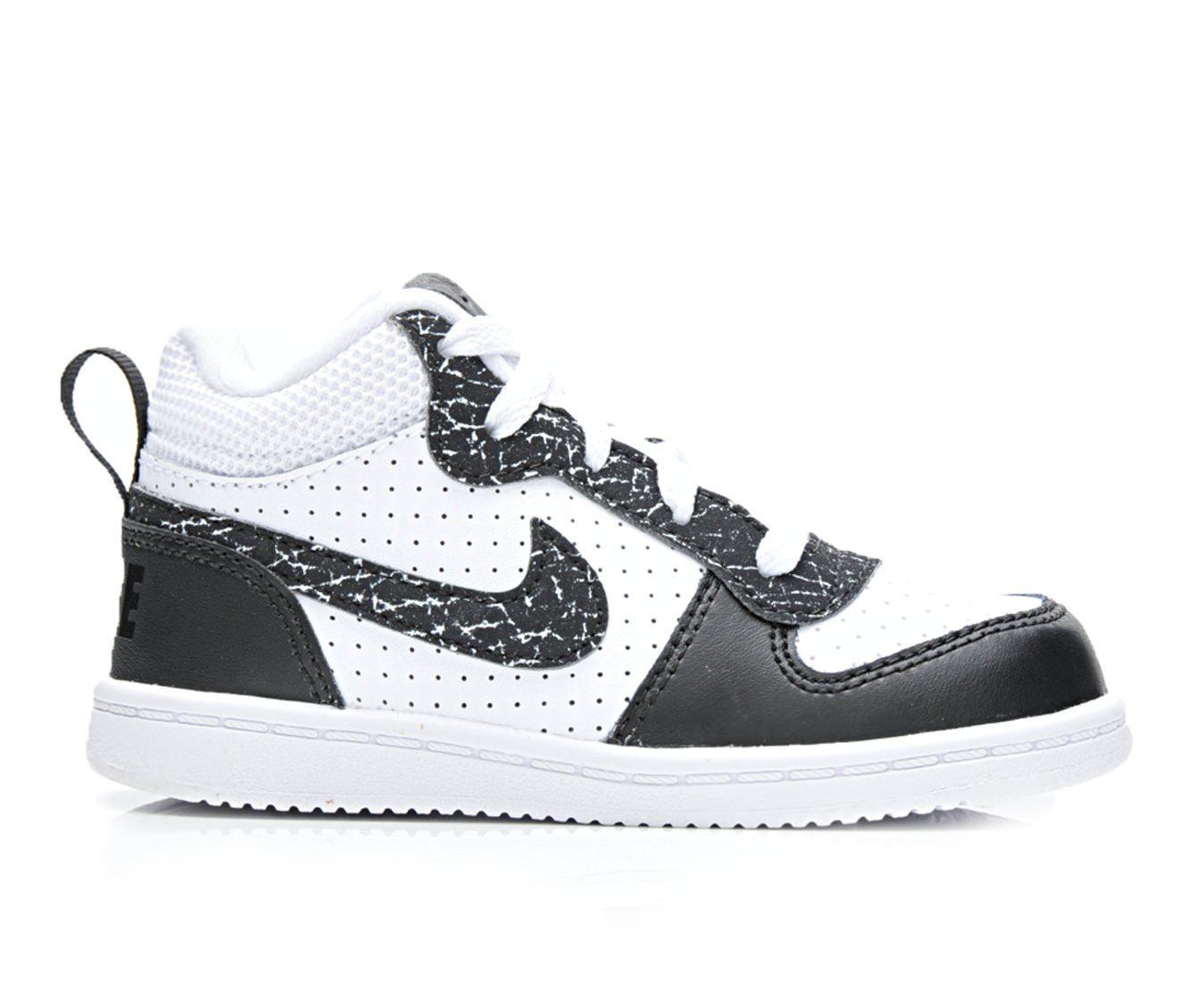 Boys' Nike Infant Court Borough Mid Prm Sneakers (White)
