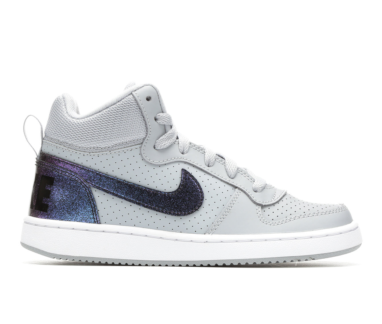 Girls' Nike Court Borough Mid Sneakers (Grey)