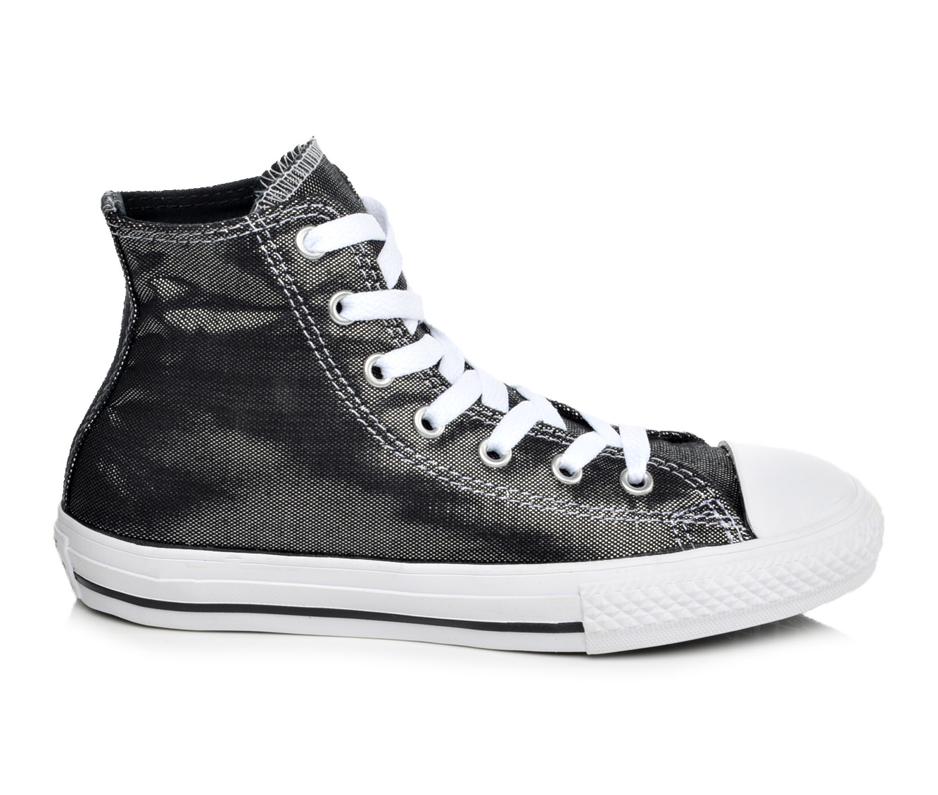 Girls' Converse Chuck Taylor Hi Shimmer Shine Sneakers (Black)