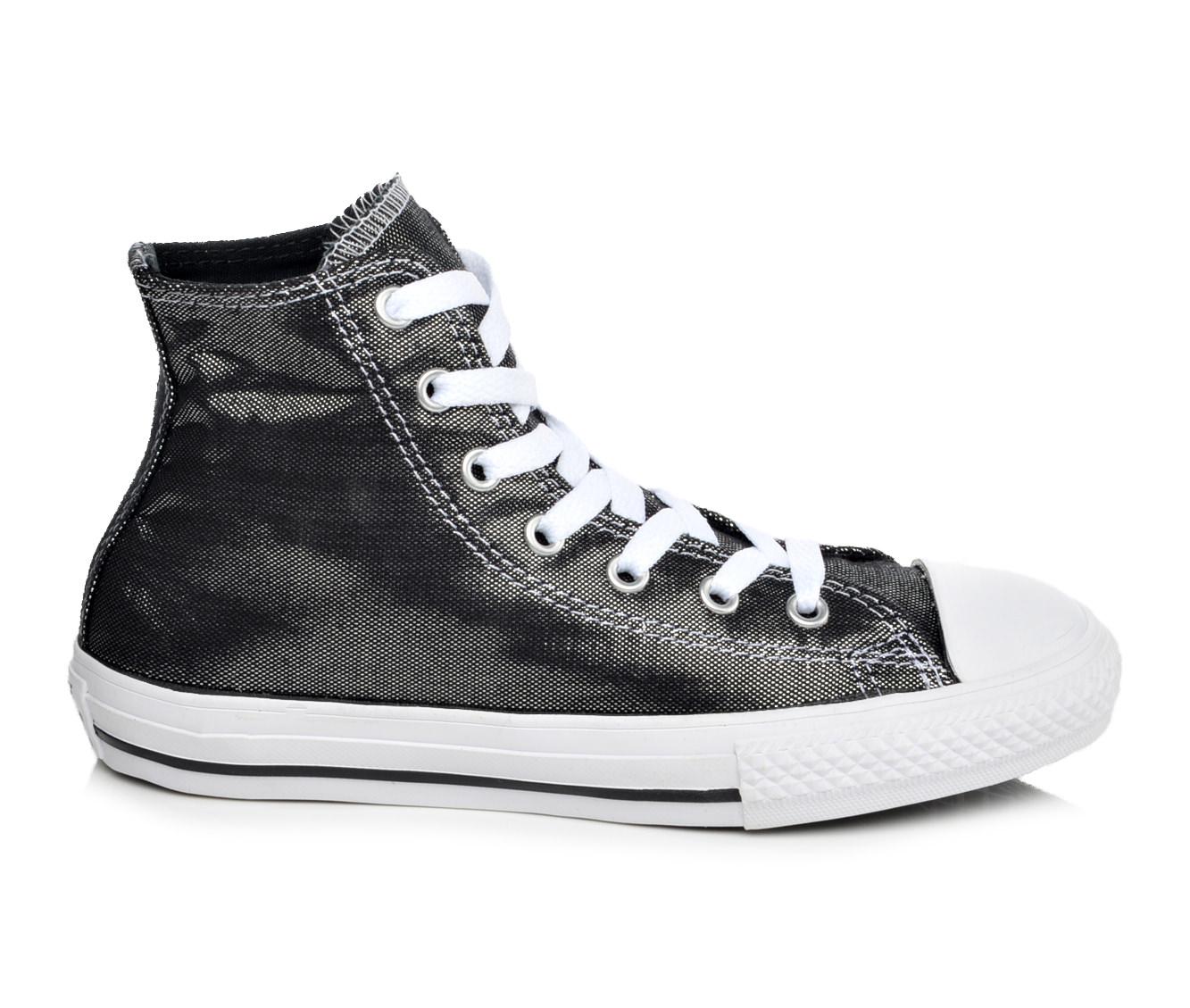 Girls' Converse Chuck Taylor Hi Shimmer Shine Sneakers (Black)