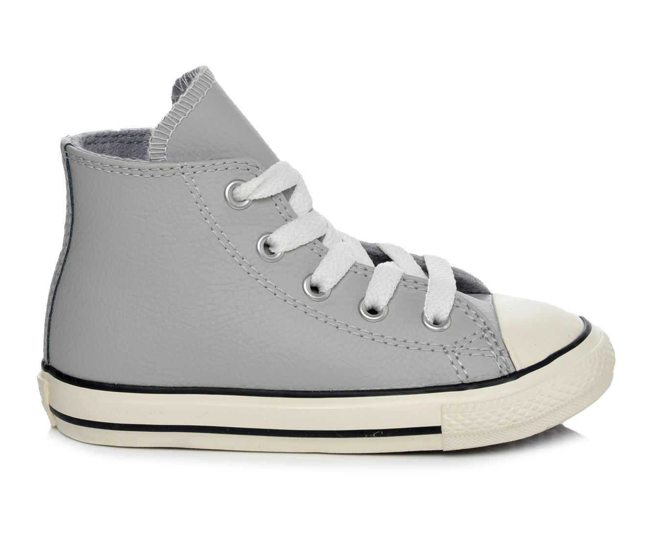 Girls' Converse Infant Chuck Taylor All Star Hi Leather Sneakers (Grey)