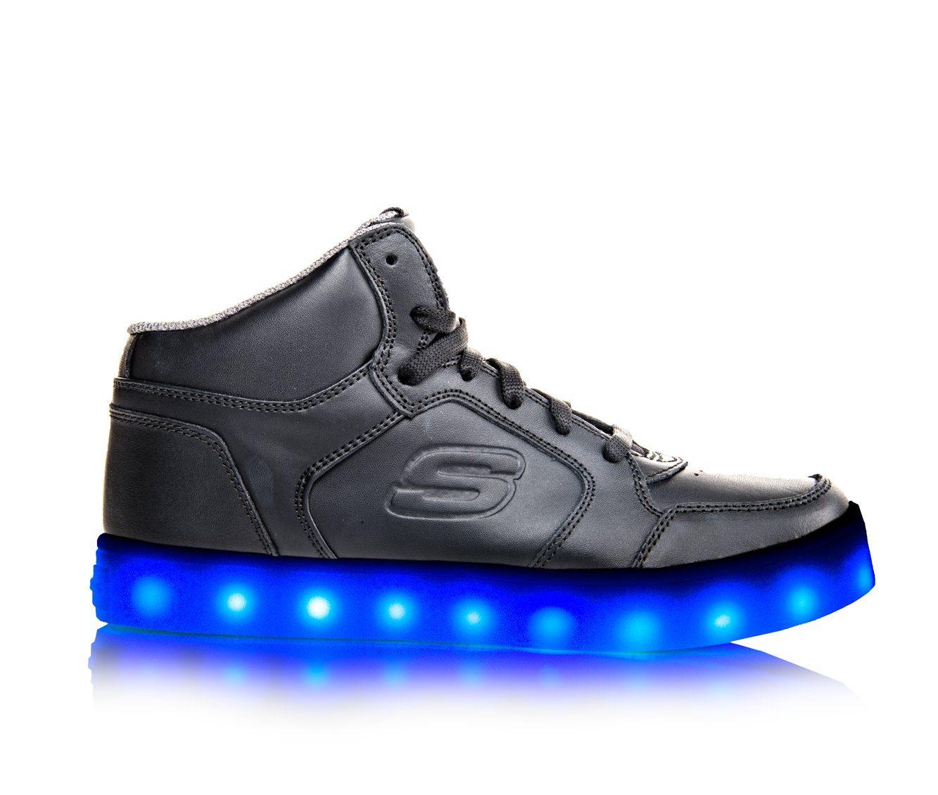 Girls' Skechers Energy Lights Sneakers (Black)