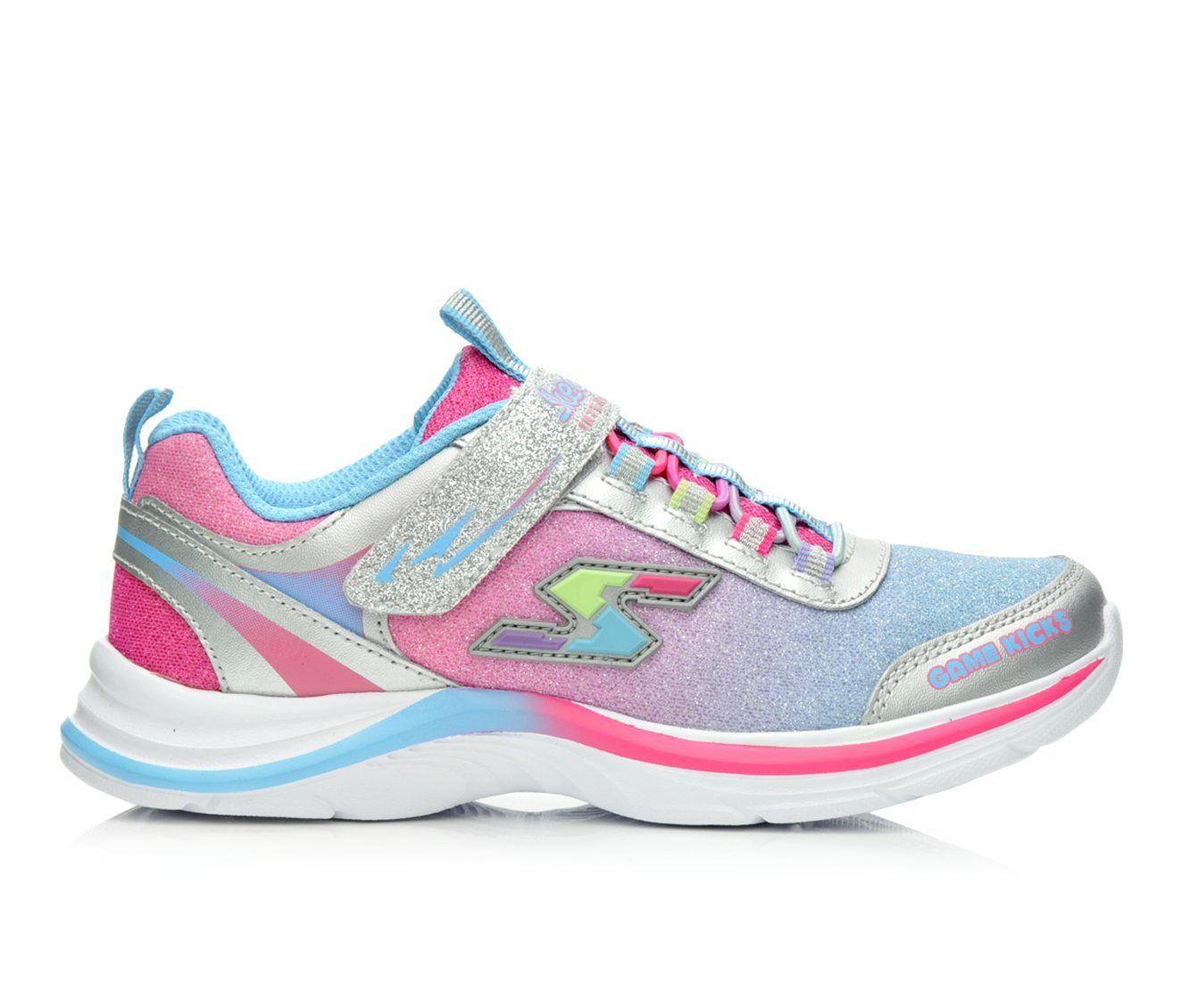 Girls' Skechers Swift Game Kicks- Super Skills Sneakers (Multicolor)