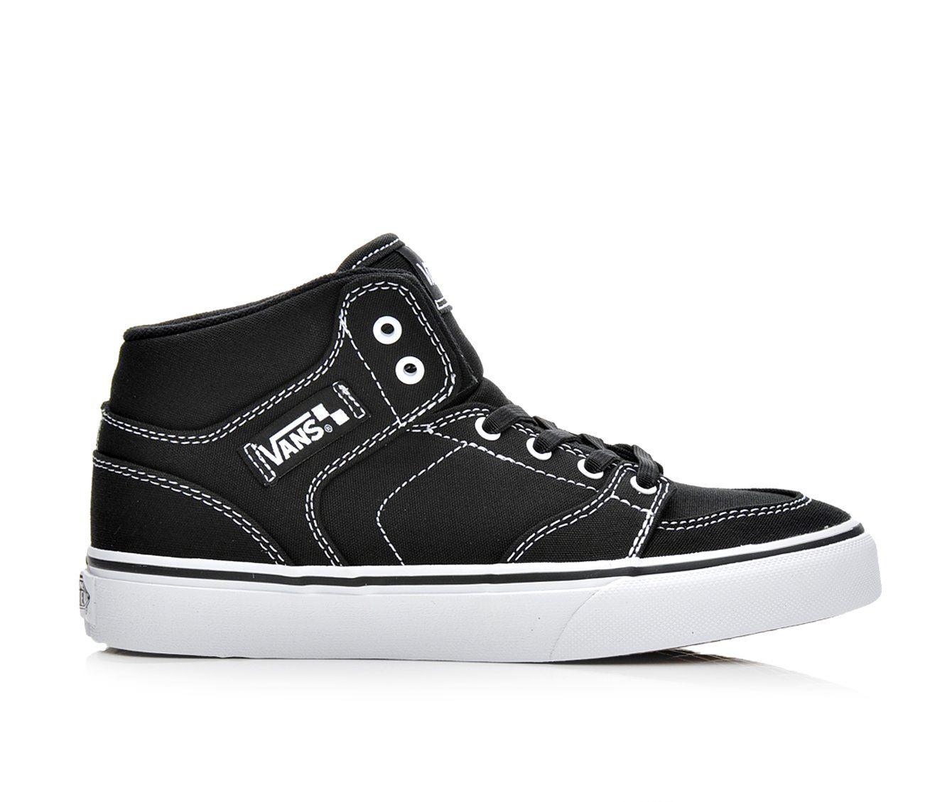 Boys' Vans Brooklyn Slip On Skate Shoes (Black)