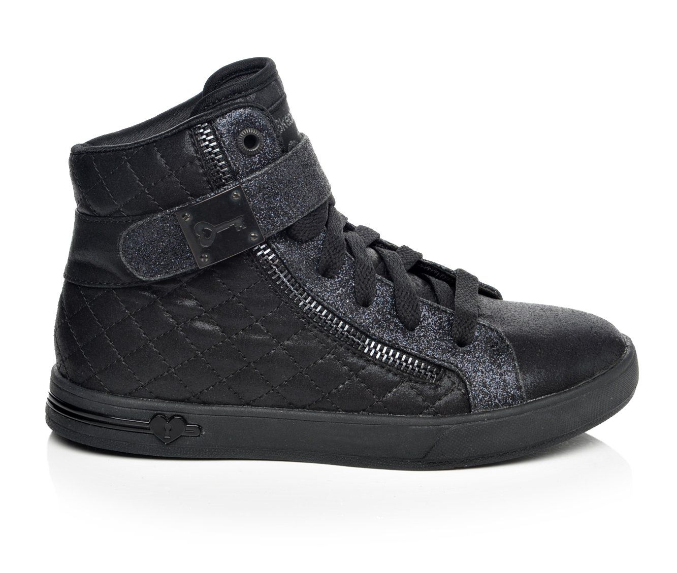 Girls' Skechers Shoutout Quilt Crush Sneakers (Black)