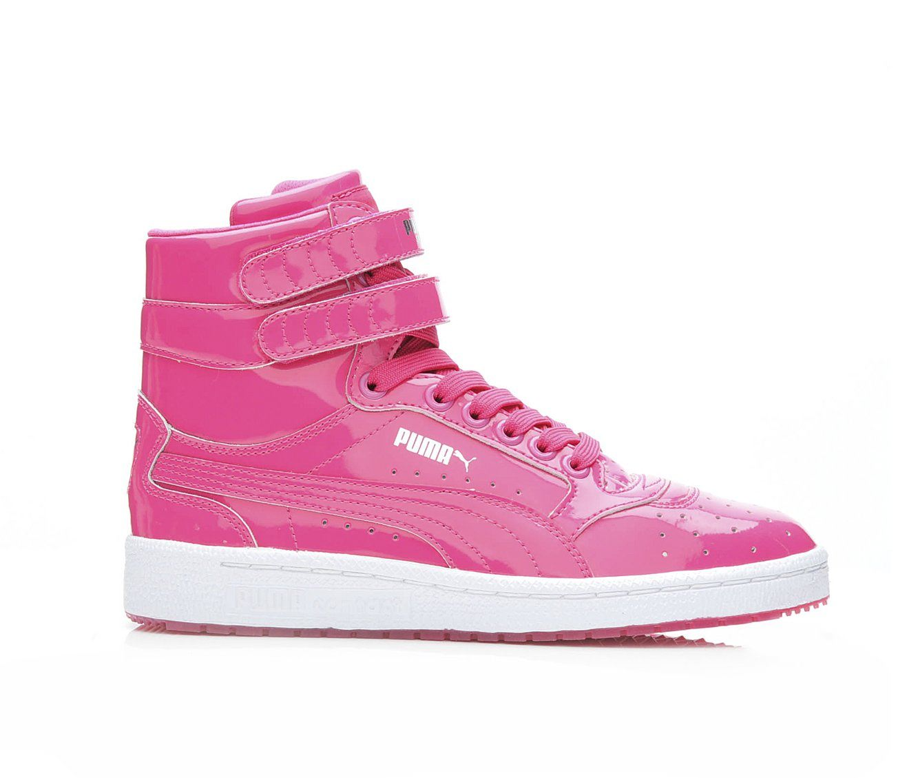 Girls' Puma Sky II Hi Patent Sneakers (Pink)