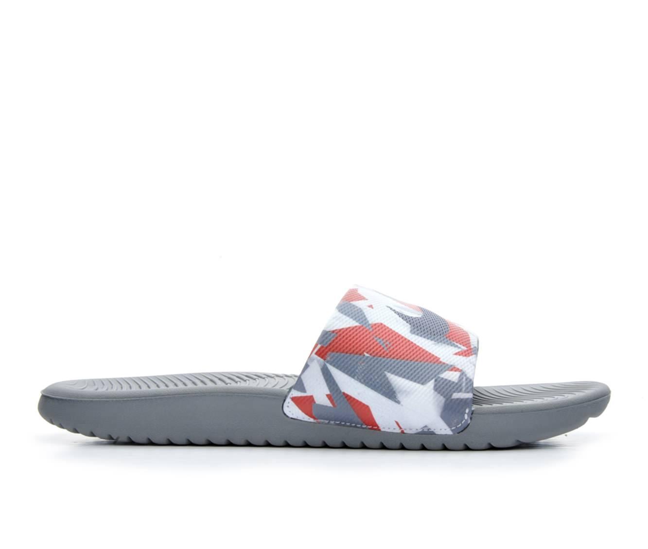 Men's Nike Kawa Slide Print Sandals (Grey)