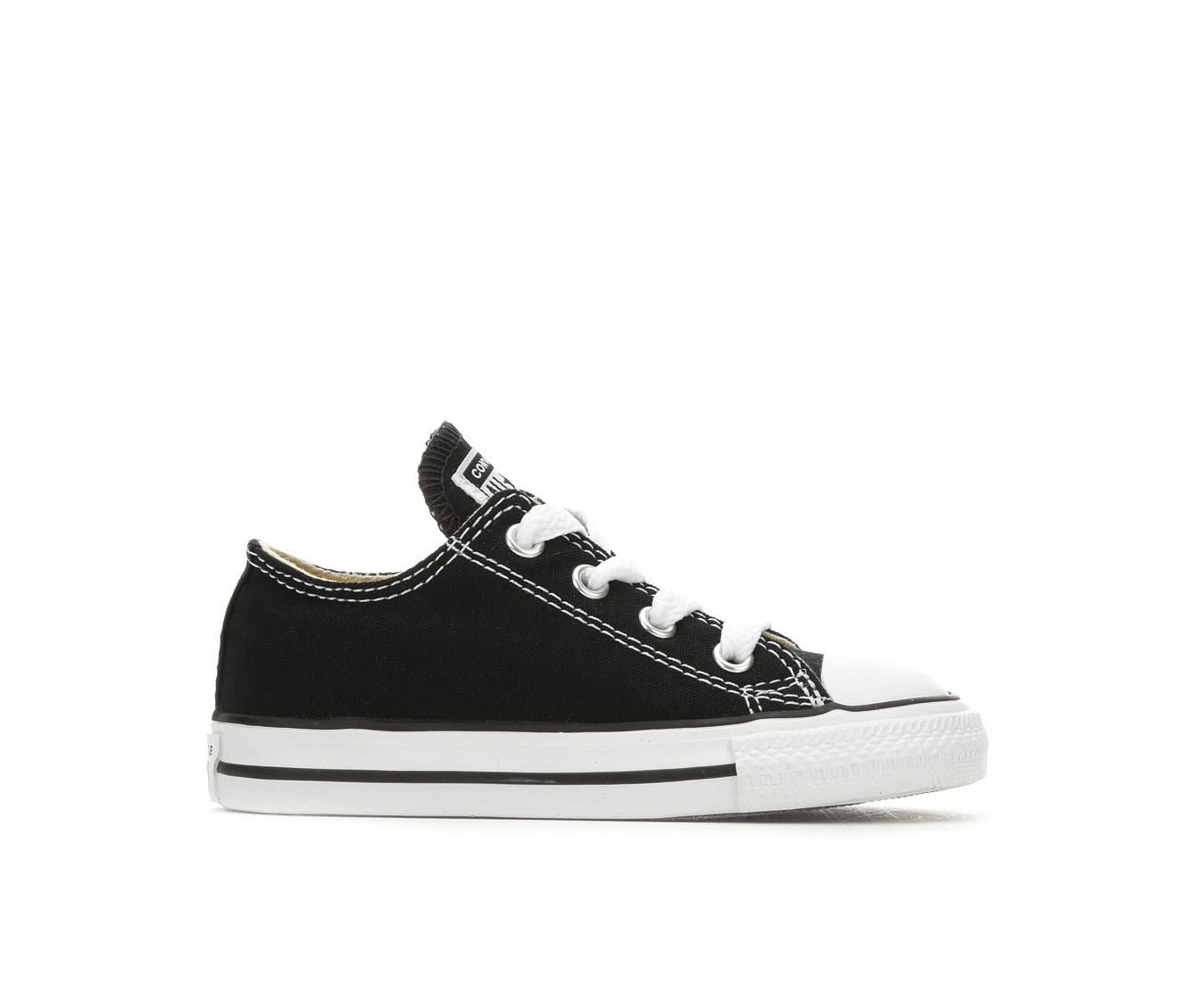 Girls' Converse Chuck Taylor All Star Infant Ox Sneakers (Black)