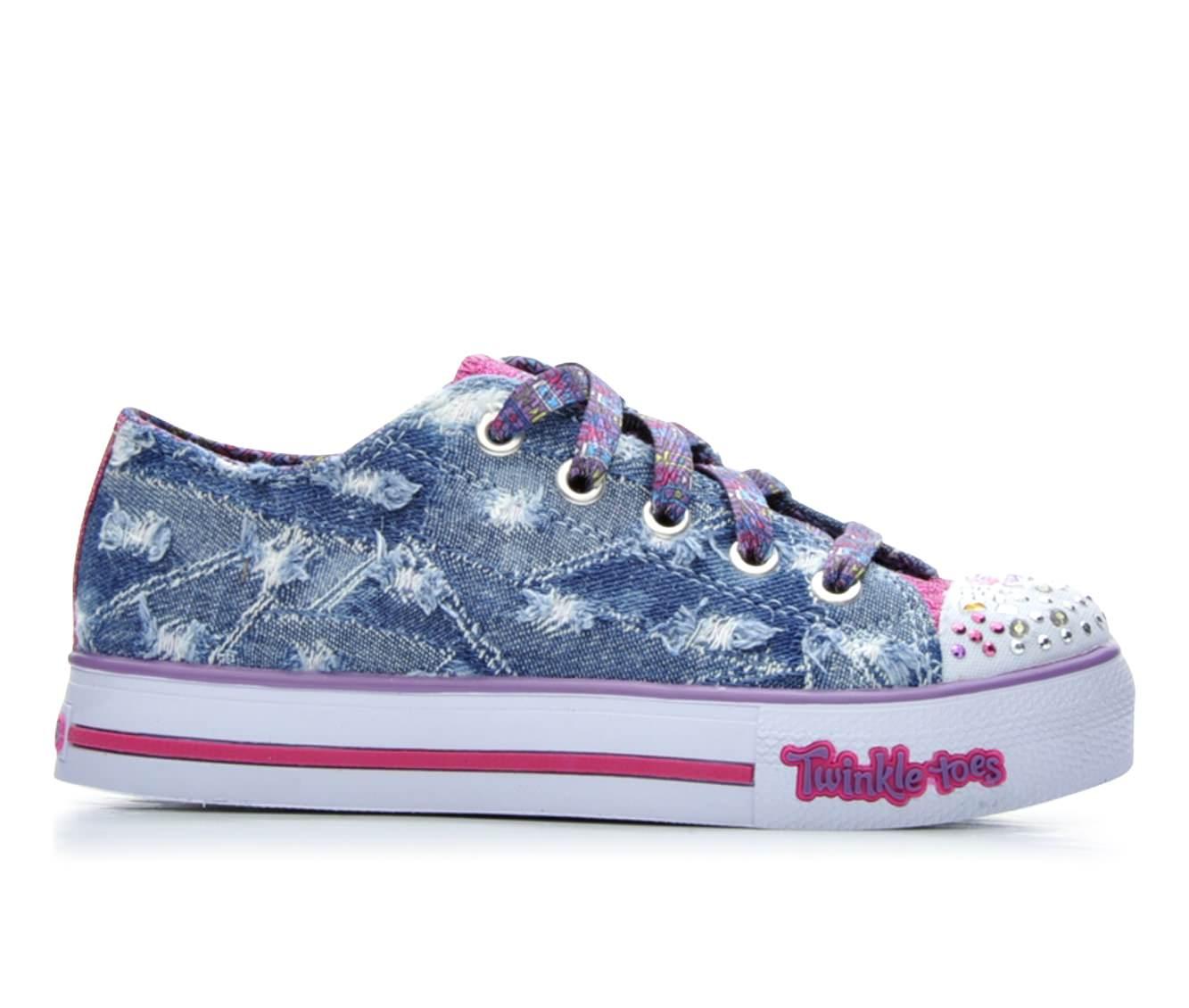 Girls' Skechers Denim Step Up Sneakers (Blue)