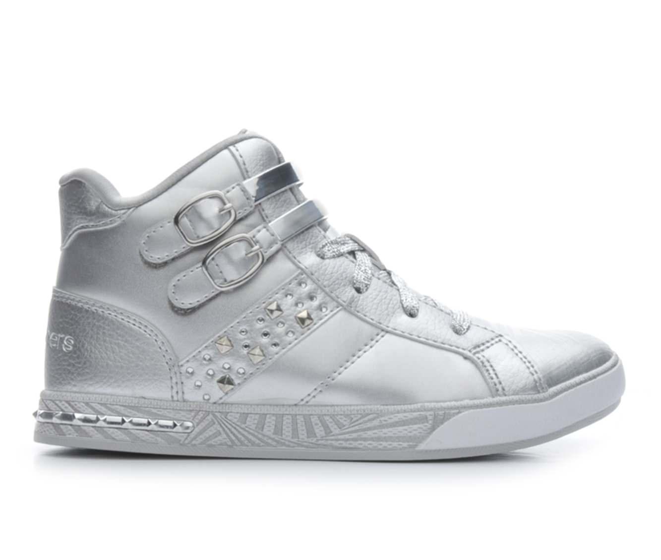 Girls' Skechers Sassy Kick Sneakers (Silver)