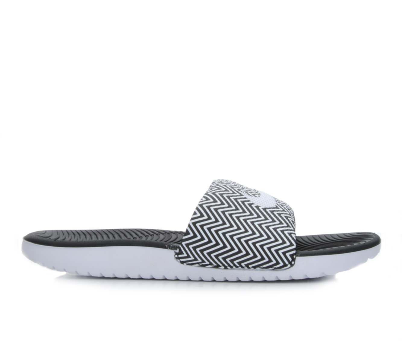 Women's Nike Kawa Slide Print Sandals (Black)