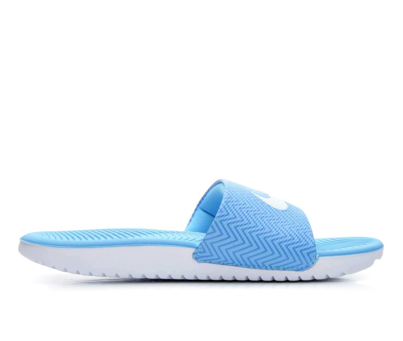Women's Nike Kawa Slide Print Sandals (Blue)