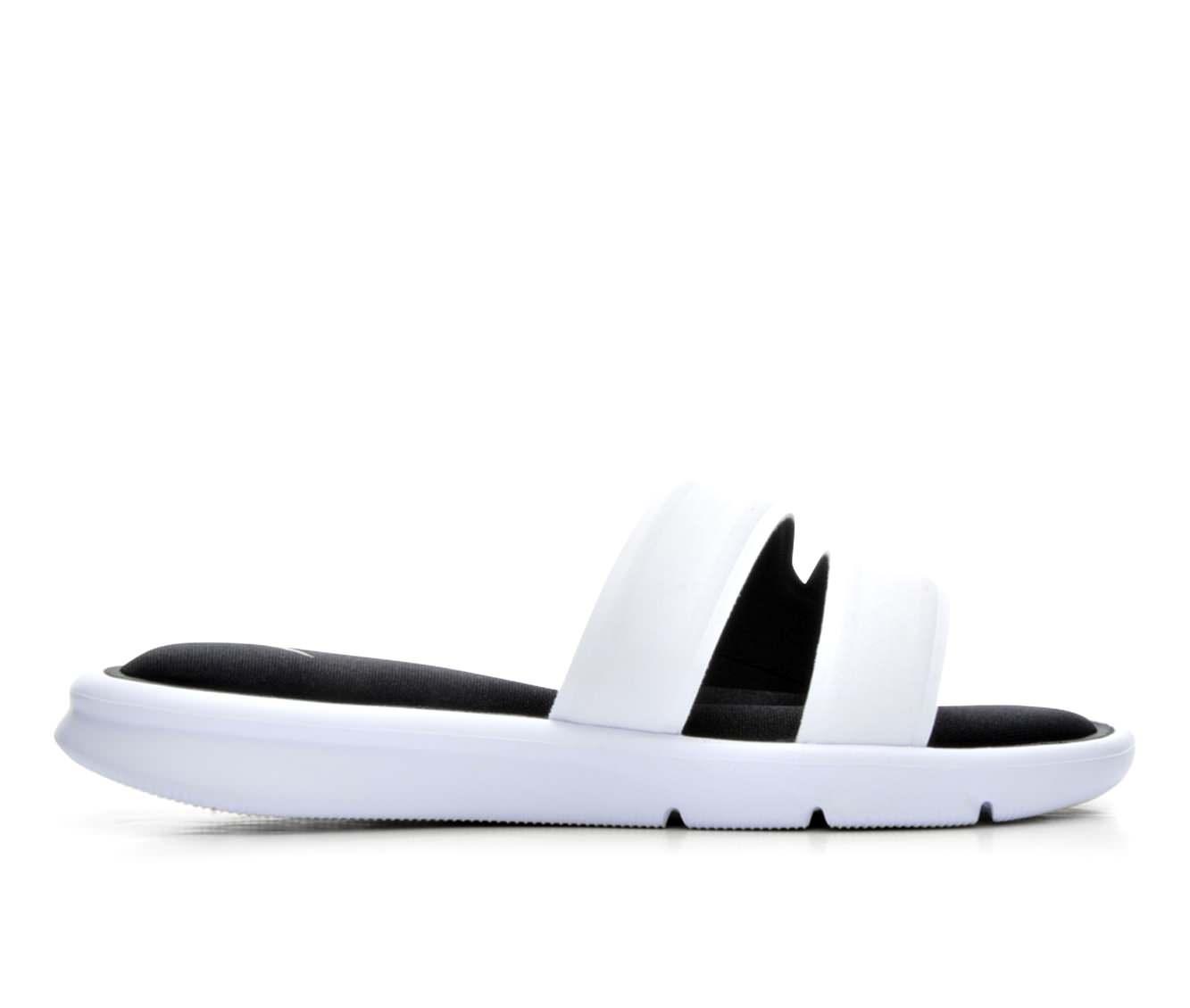 Women's Nike Ultra Comfort Slide Sandals (White)