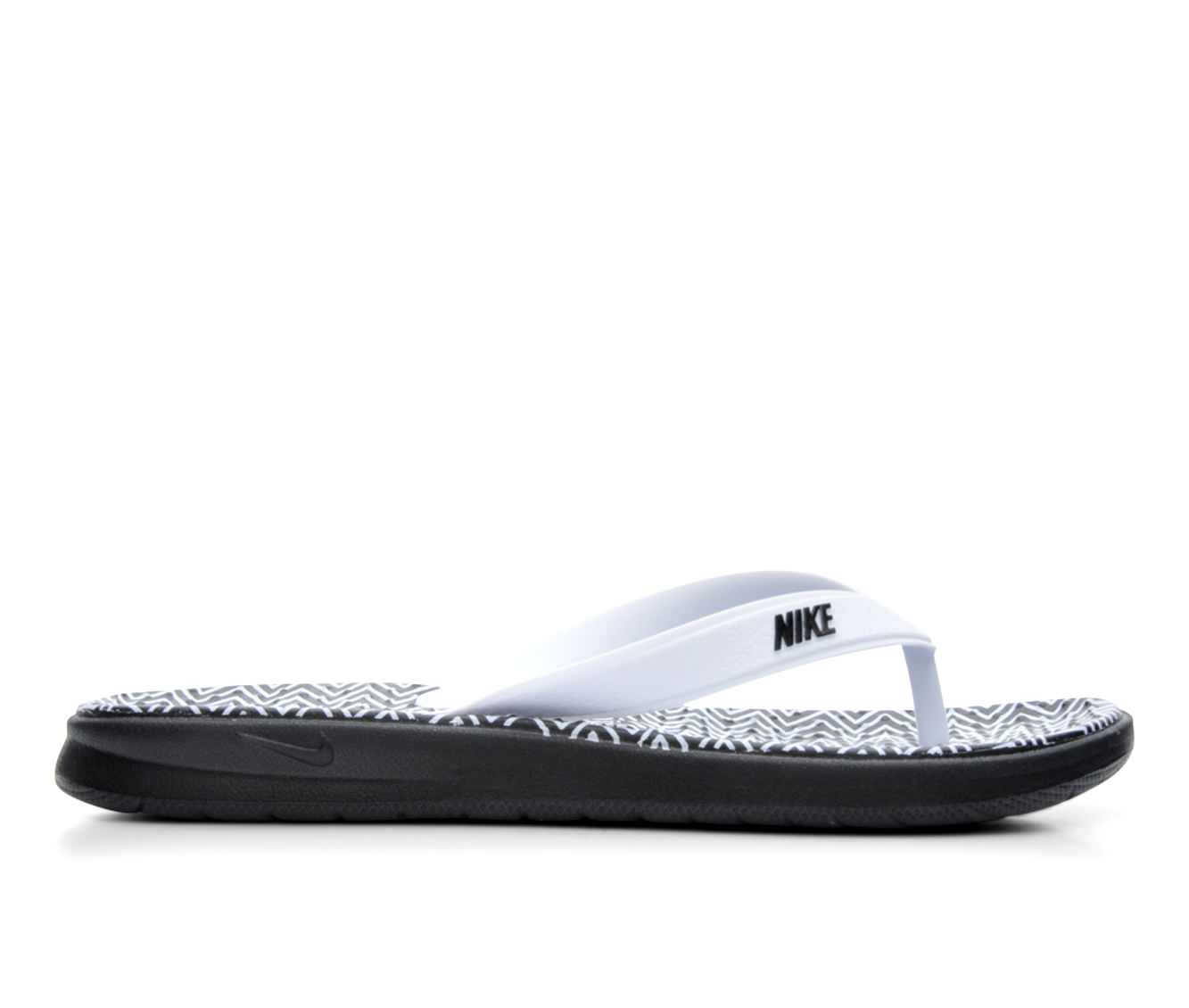 Women's Nike Solay Thong Print Sandals (Black)