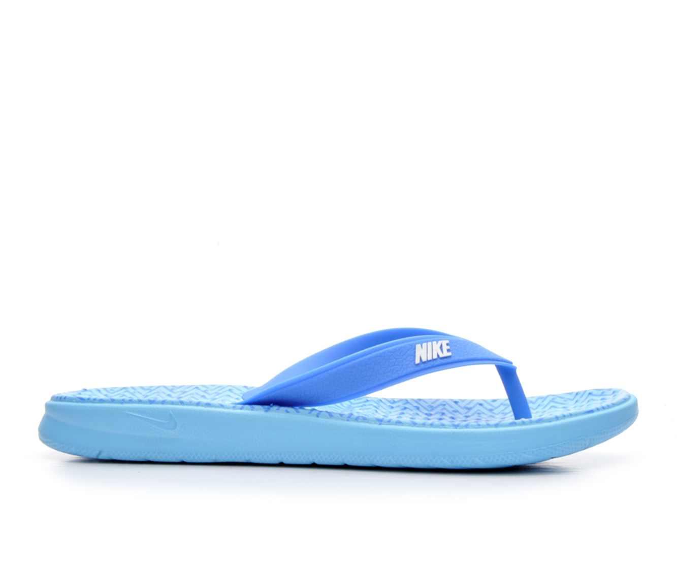 Women's Nike Solay Thong Print Sandals (Blue)