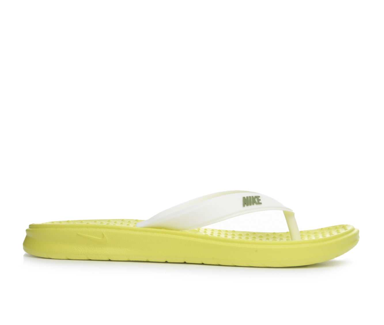 Women's Nike Solay Thong Sandals (Green)