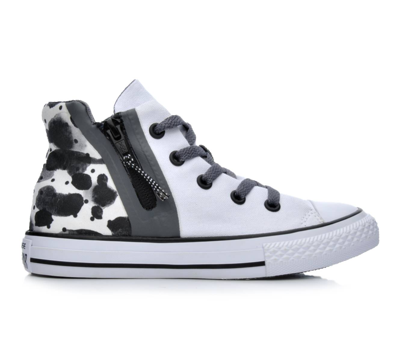 Girls' Converse Chuck Taylor All Star Sport Zip Sneakers (White)