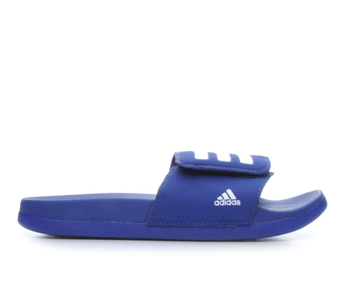 Boys' Adidas Adilette Adjust Sport Slides (Blue)