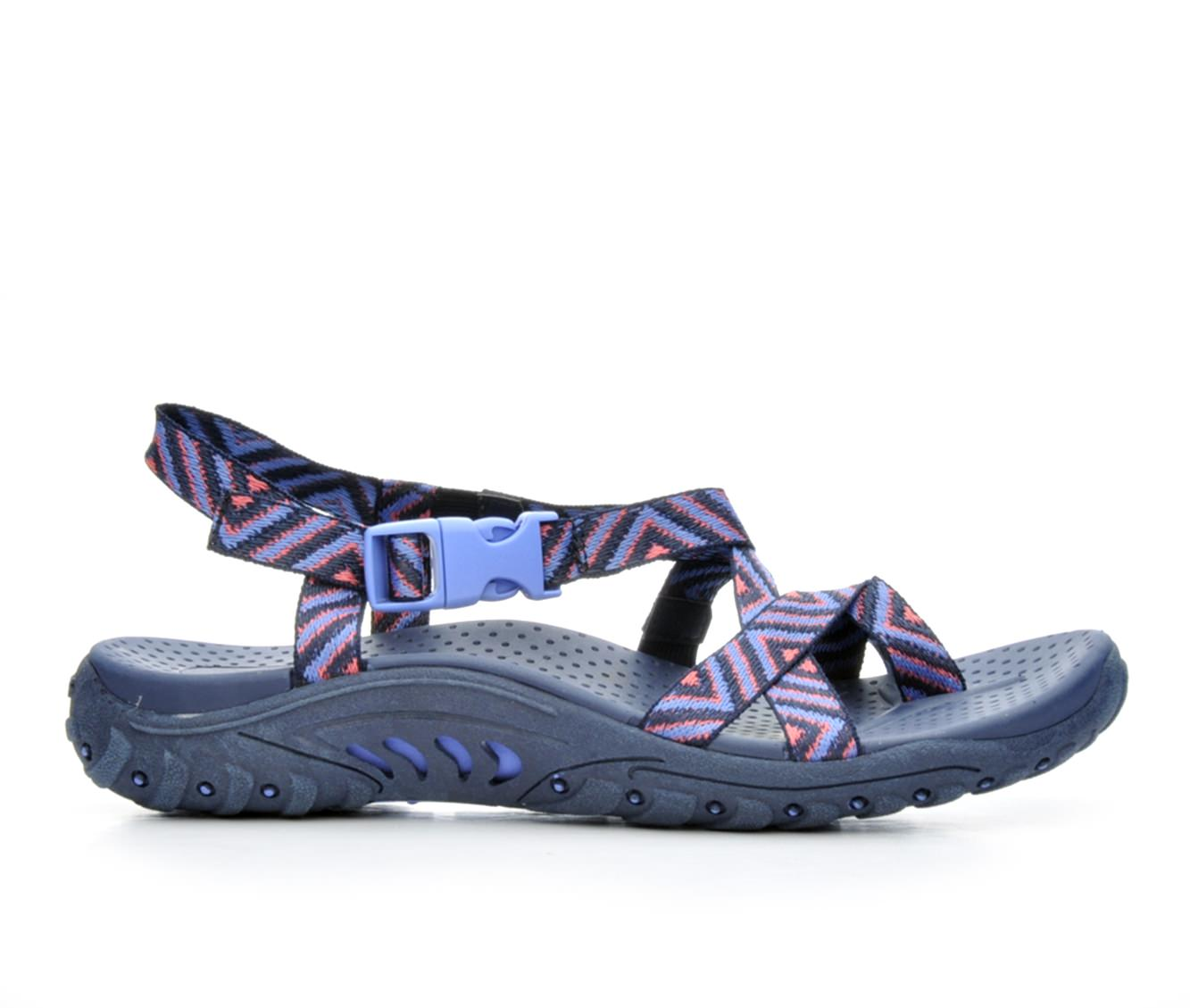 Women's Skechers Reggae Haystack 40872 Sandals (Blue)