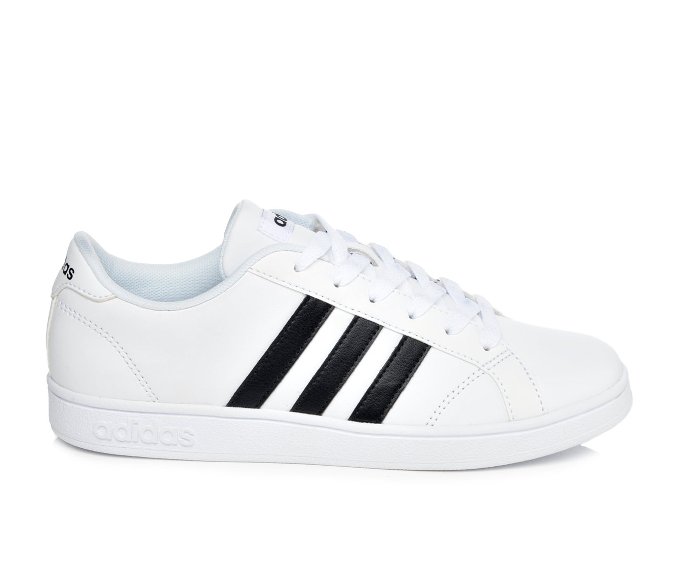 Girls' Adidas Baseline K Sneakers (White)