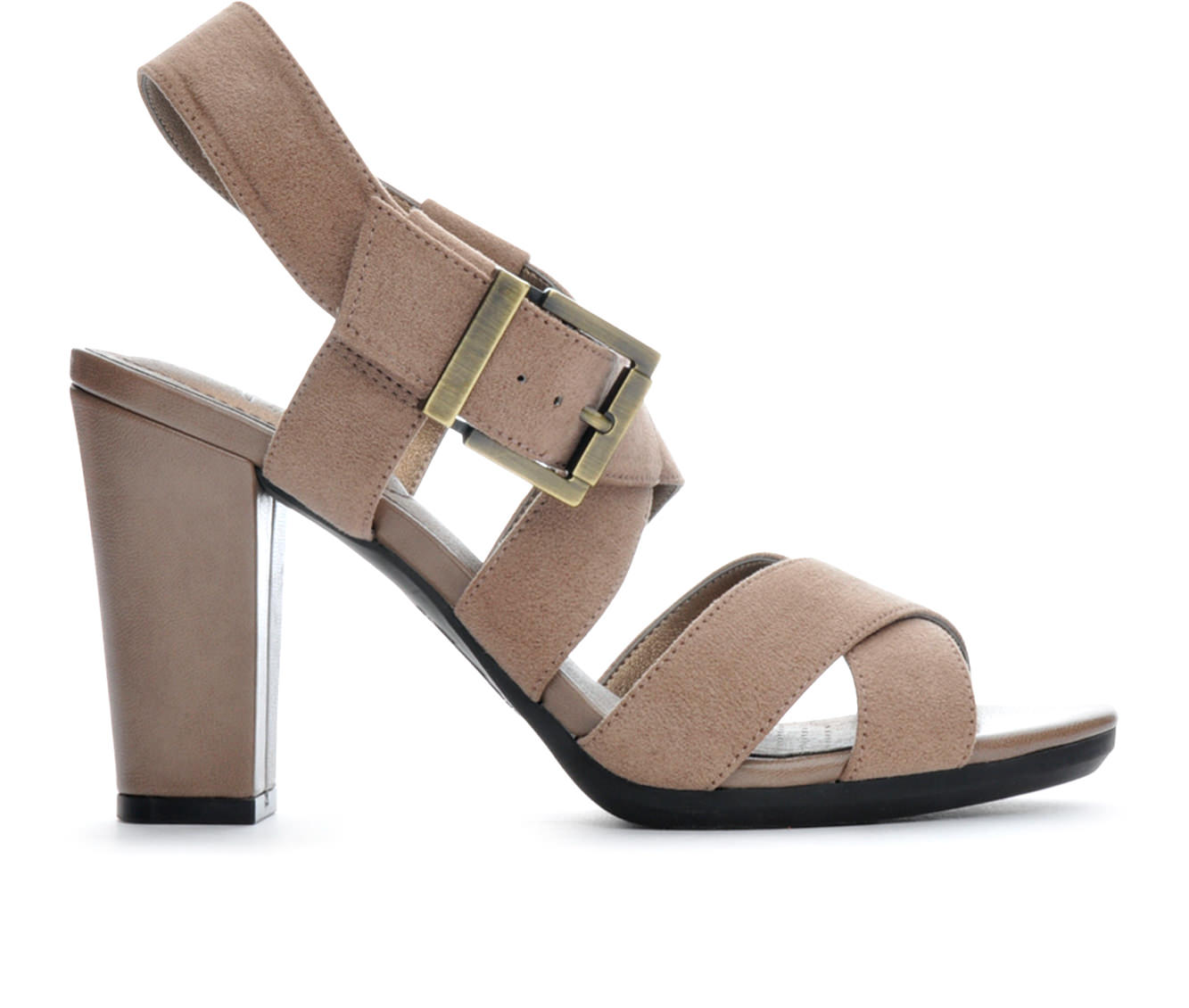Women's LifeStride Nicely Block Heels (Beige)