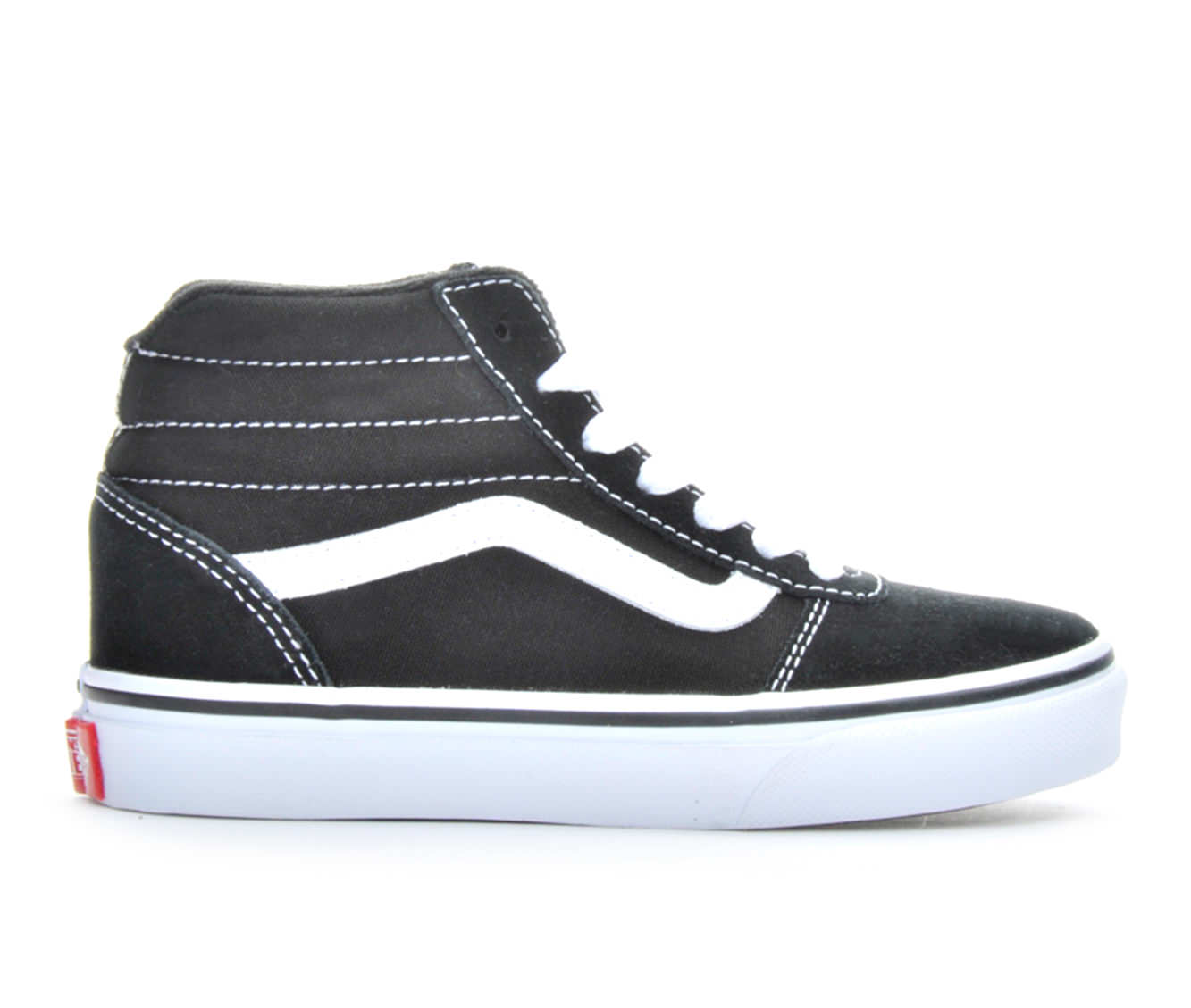Boys' Vans Ward Hi Skate Shoes (Black)