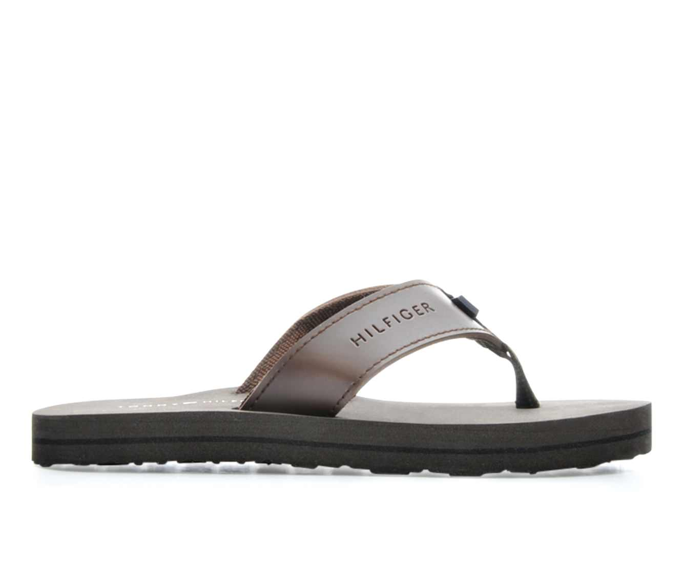 Boys' Tommy Hilfiger Solid Flip Flop Children's Shoes (Brown)