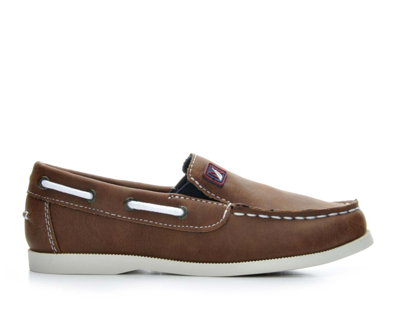 Boys' Nautica Rowlock Boat Shoes (Brown)